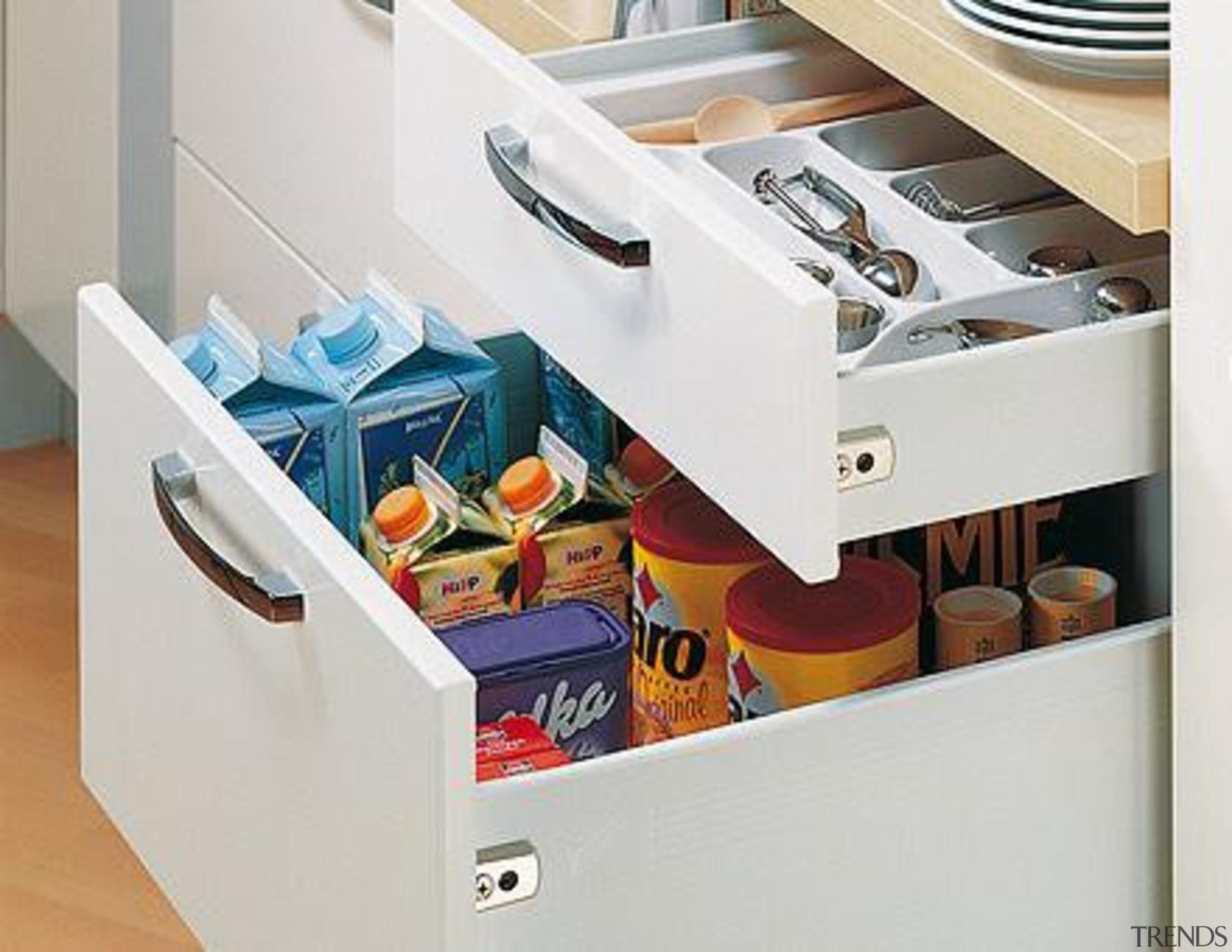MultiTech steel drawer system for kitchens. - MultiTech drawer, furniture, kitchen, product, product design, shelf, shelving, white