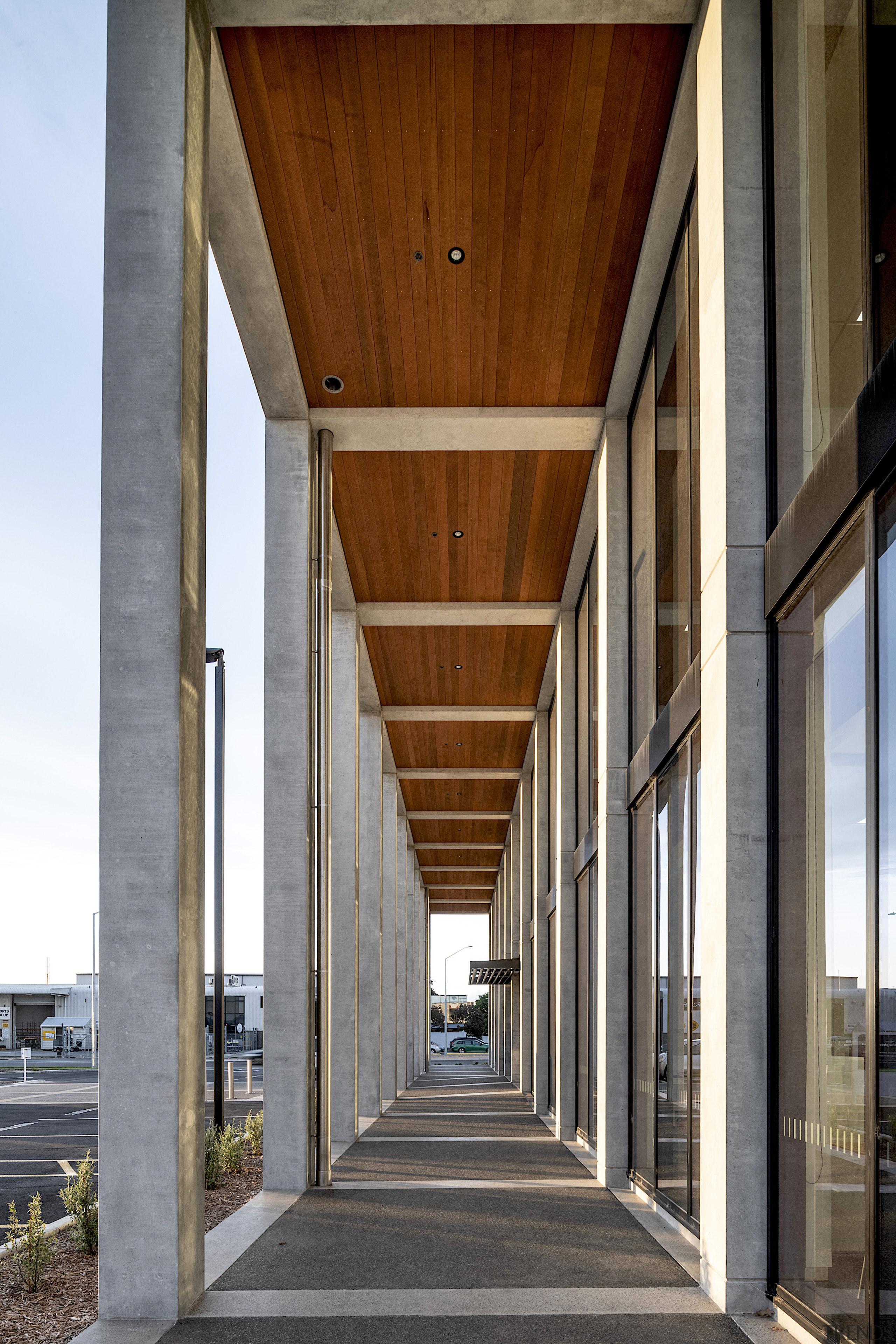 Natural cedar soffits add a natural feel to