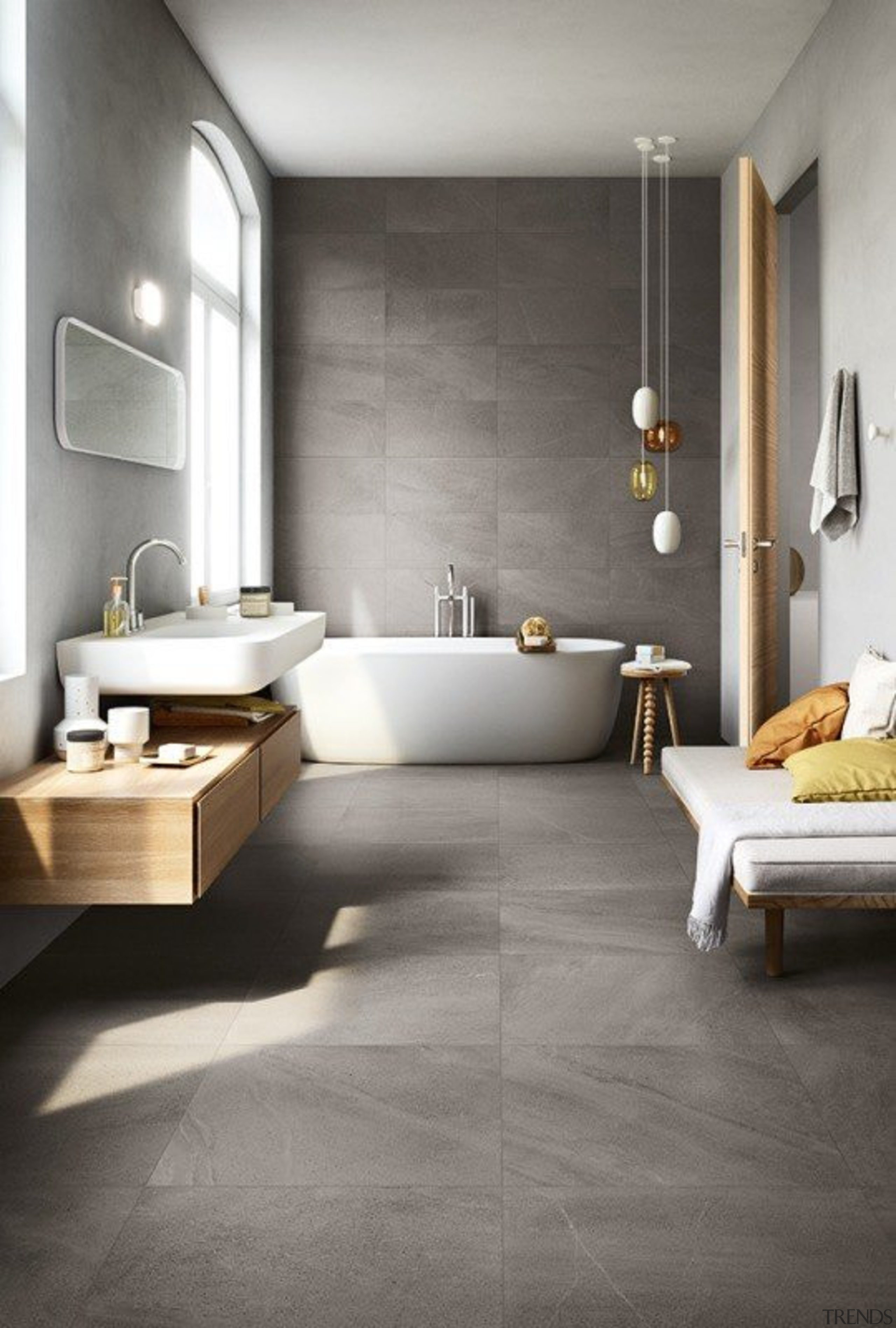 Limestone - bathroom | ceramic | floor | bathroom, ceramic, floor, flooring, interior design, laminate flooring, plumbing fixture, product design, room, sink, tap, tile, wall, wood flooring, gray