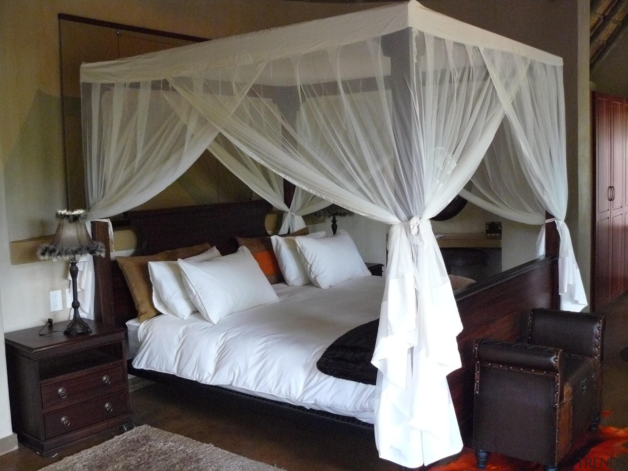 Colour hardener  12 - Colour_hardener__12 - bed bed, bed frame, bedroom, ceiling, curtain, four poster, furniture, home, interior design, property, room, textile, window, window covering, window treatment, gray, black