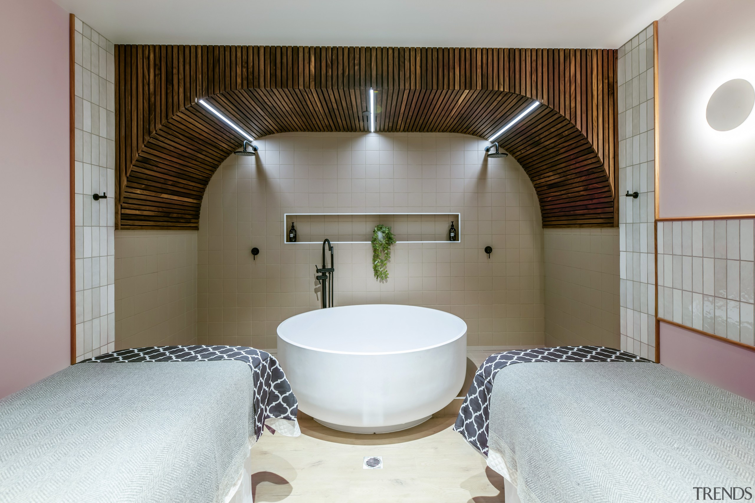 The Moss Spa includes a variety of options, architecture, Spa, Moss Spa, bathtub, Sudima Hotel,  Christchurch, Ignite Architects