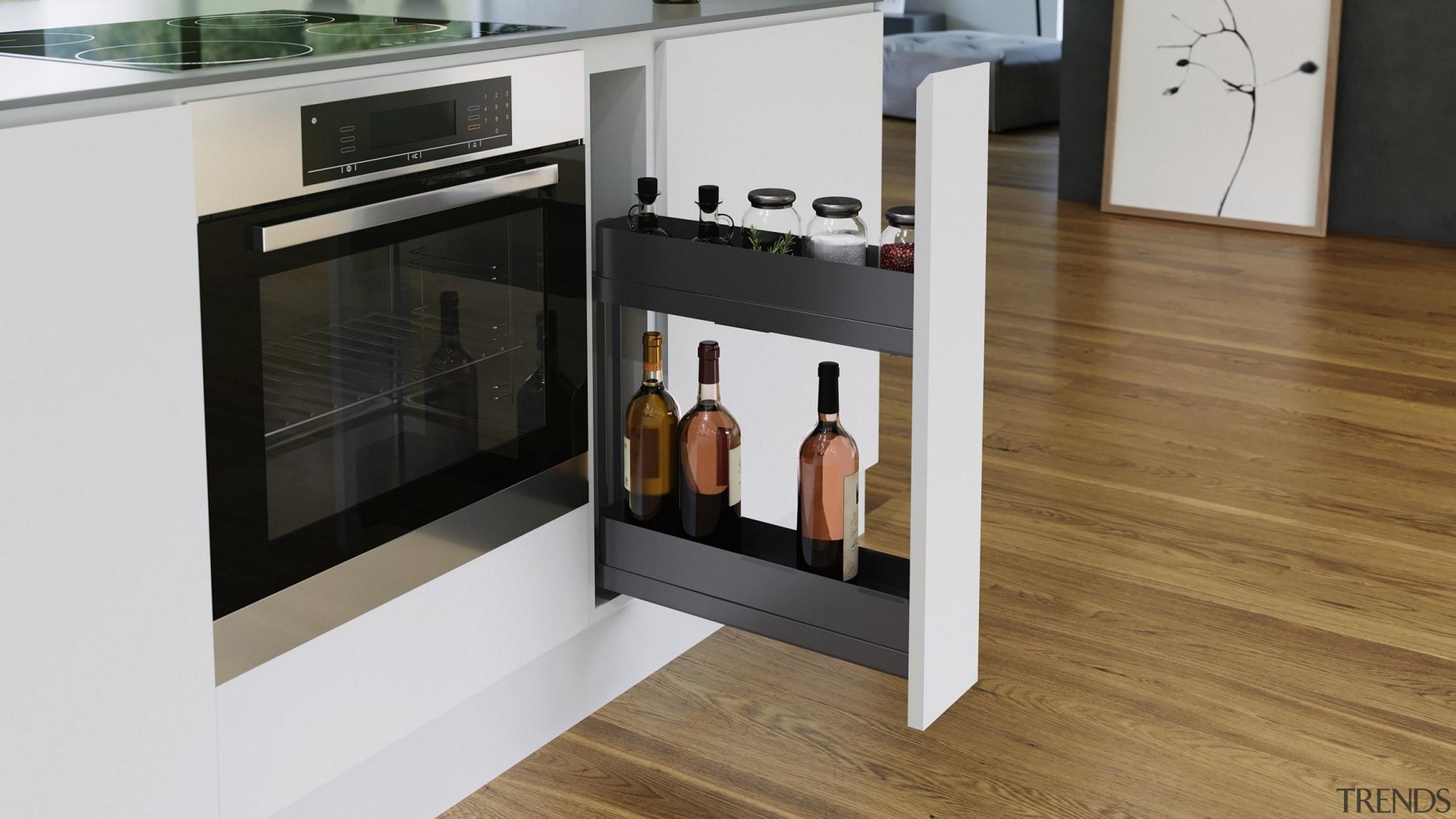 Vauth Sagel SUB Slim Underbench Pull Out Unit floor, flooring, furniture, home appliance, kitchen, kitchen appliance, kitchen stove, product, white, brown