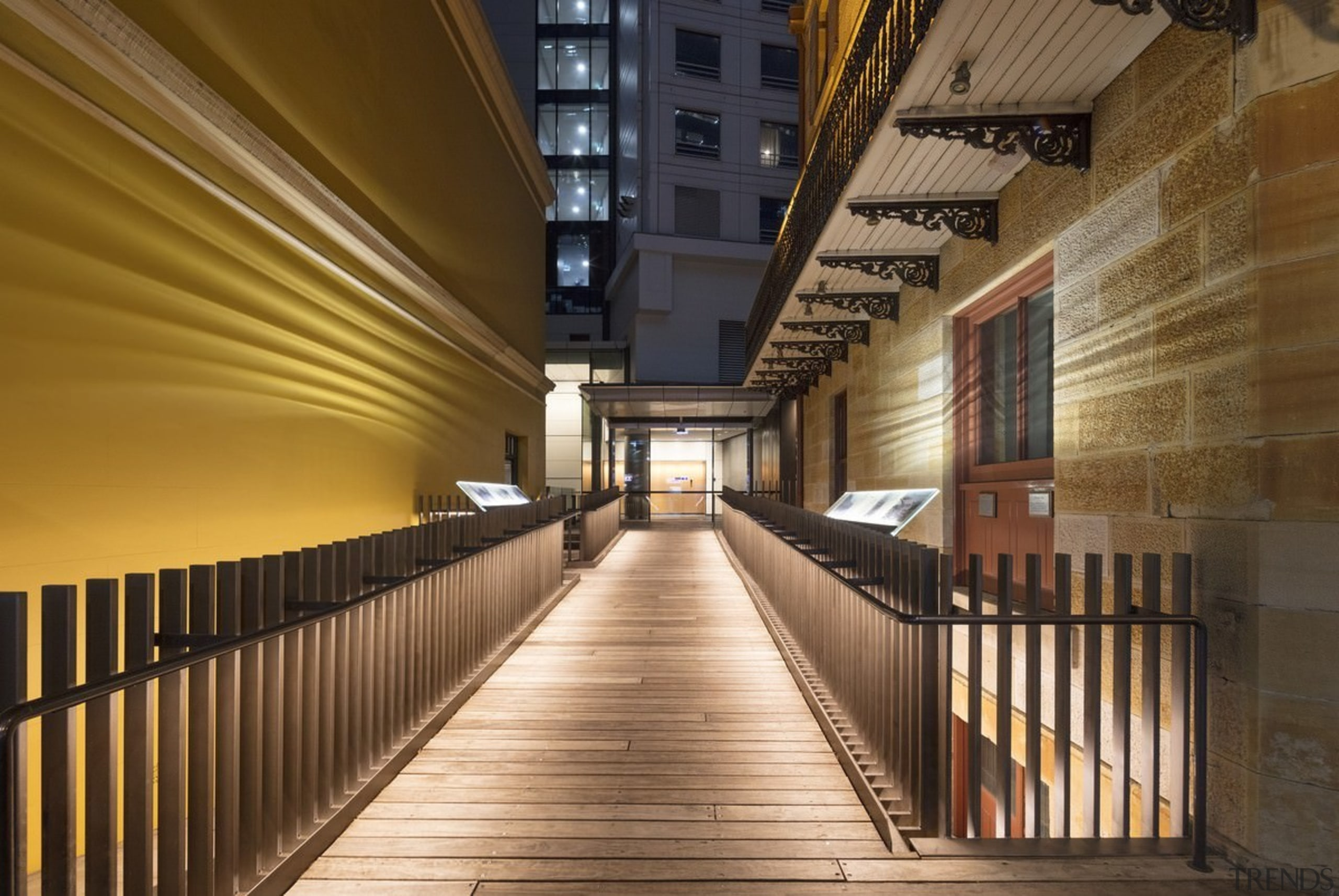 161 Sussex St – Cox Architecture - 161 architecture, building, ceiling, lobby, stairs, brown
