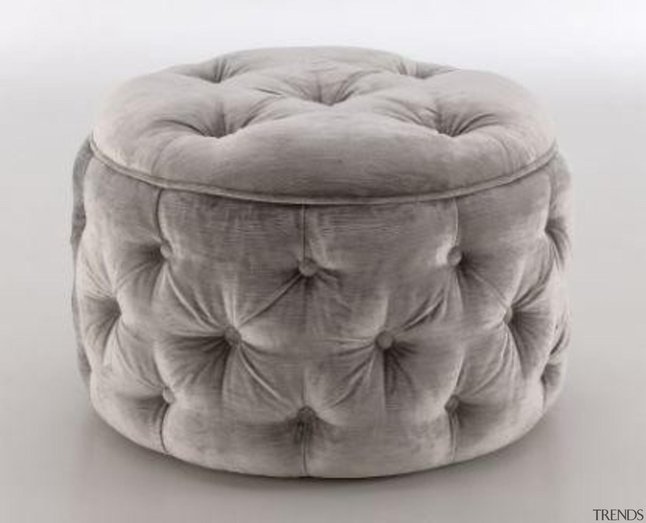 Deep buttoned ottoman - Deep buttoned ottoman - furniture, gray