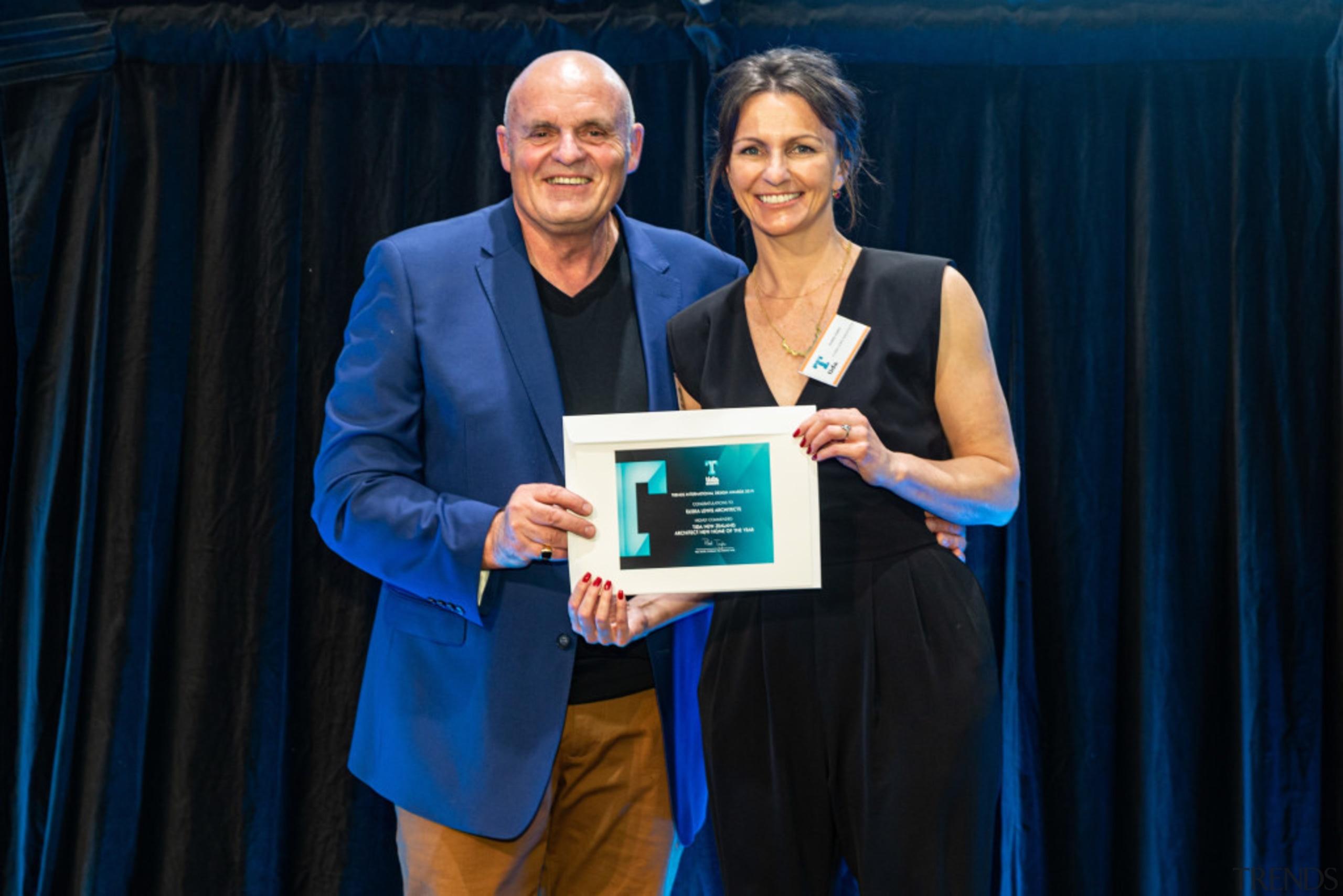 2019 TIDA New Zealand Homes presentation evening award, award ceremony, blue, employment, event, blue, black