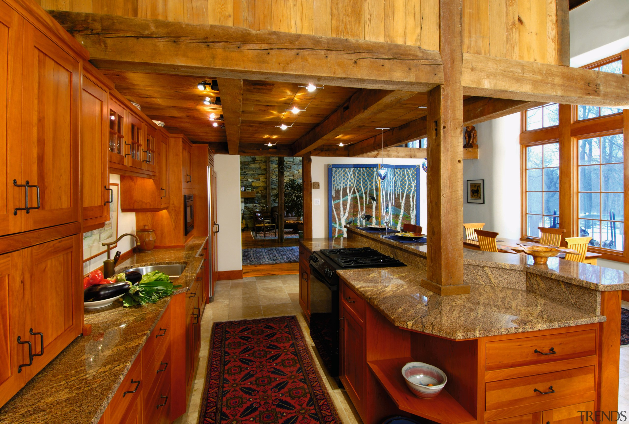 view of this kitchen that sits under the cabinetry, countertop, estate, hardwood, home, interior design, kitchen, real estate, room, wood, brown