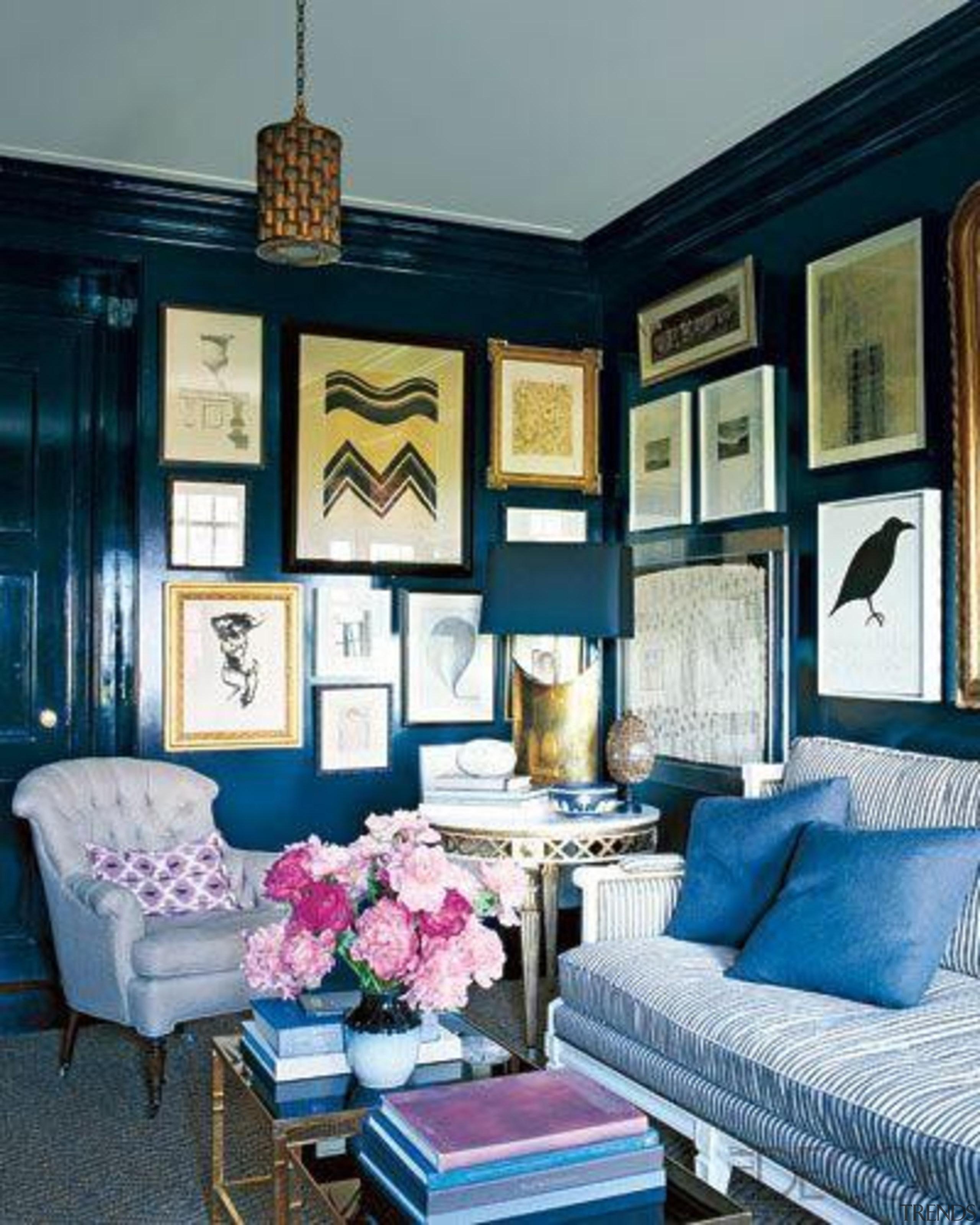 cerulean elledecorcom.jpg - cerulean_elledecorcom.jpg - blue | furniture blue, furniture, home, interior design, living room, room, wall, window