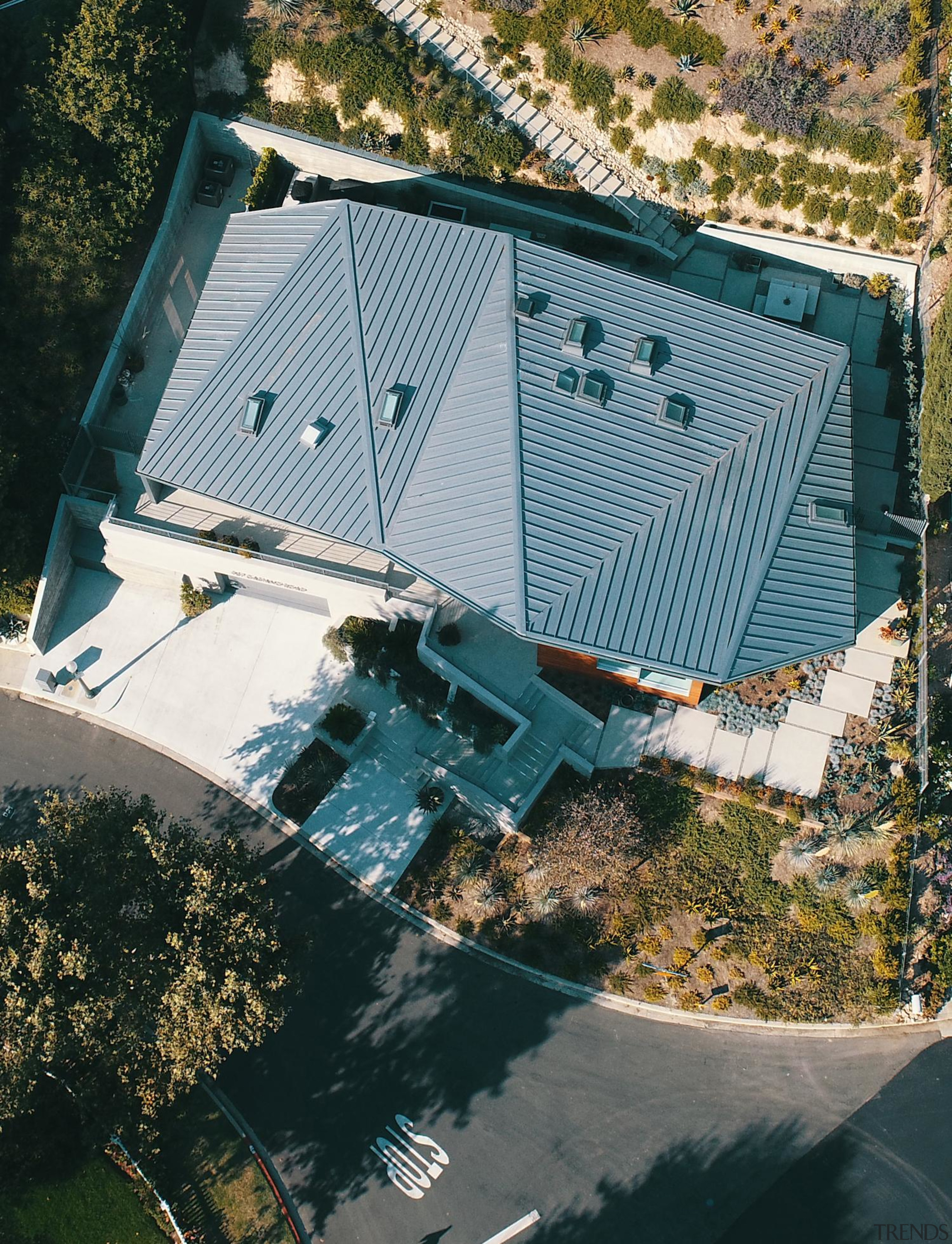 Anx View 61 - aerial photography | architecture aerial photography, architecture, building, house, photography, property, residential area, roof, tree, water, black