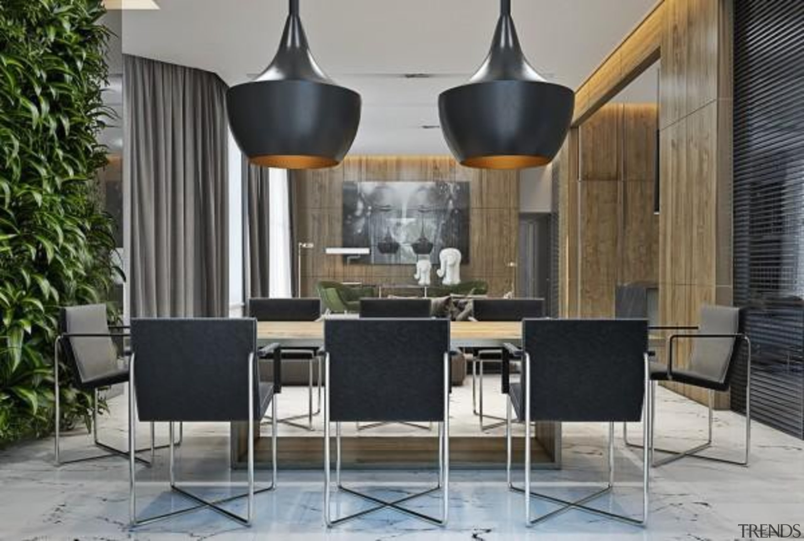 Masculine Apartments - Masculine Apartments - chair | chair, dining room, furniture, interior design, product design, table, gray, black