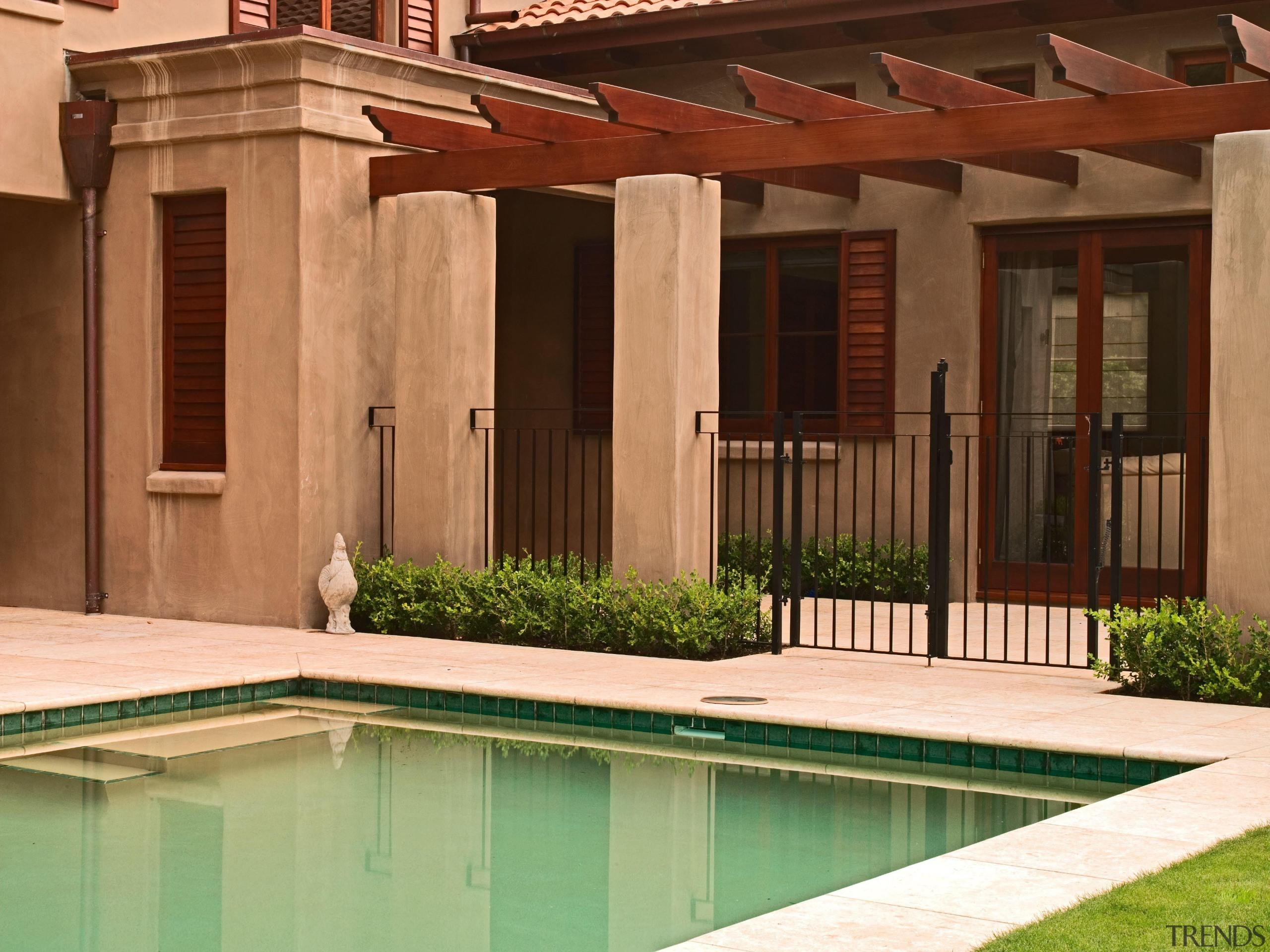 139 onetaunga pergola - Onetaunga Pergola - backyard backyard, estate, facade, house, outdoor structure, property, real estate, residential area, window, wood, brown, orange