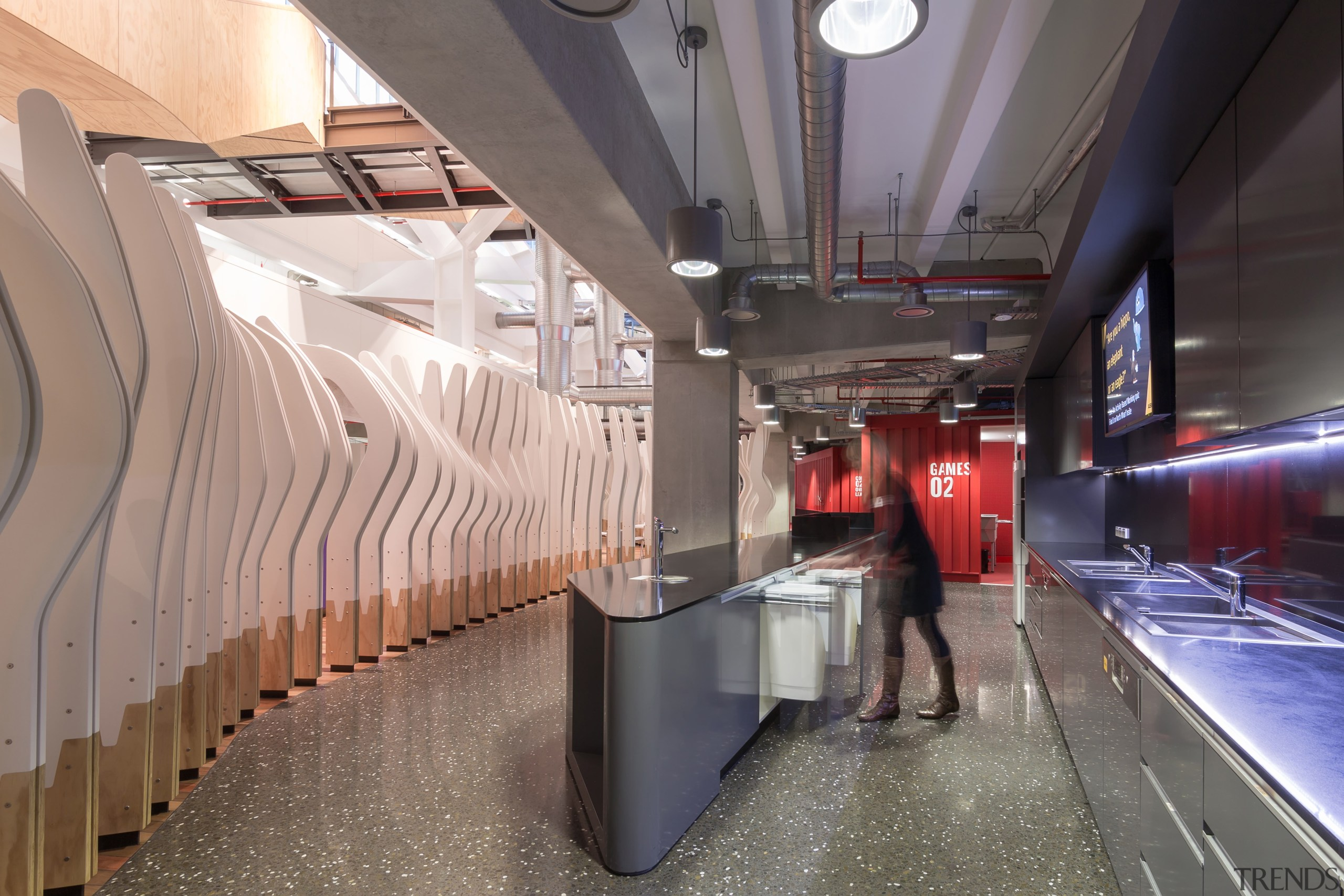 Hideaway Bins proved the ideal recycling solution for architecture, interior design, metro station, public transport, gray