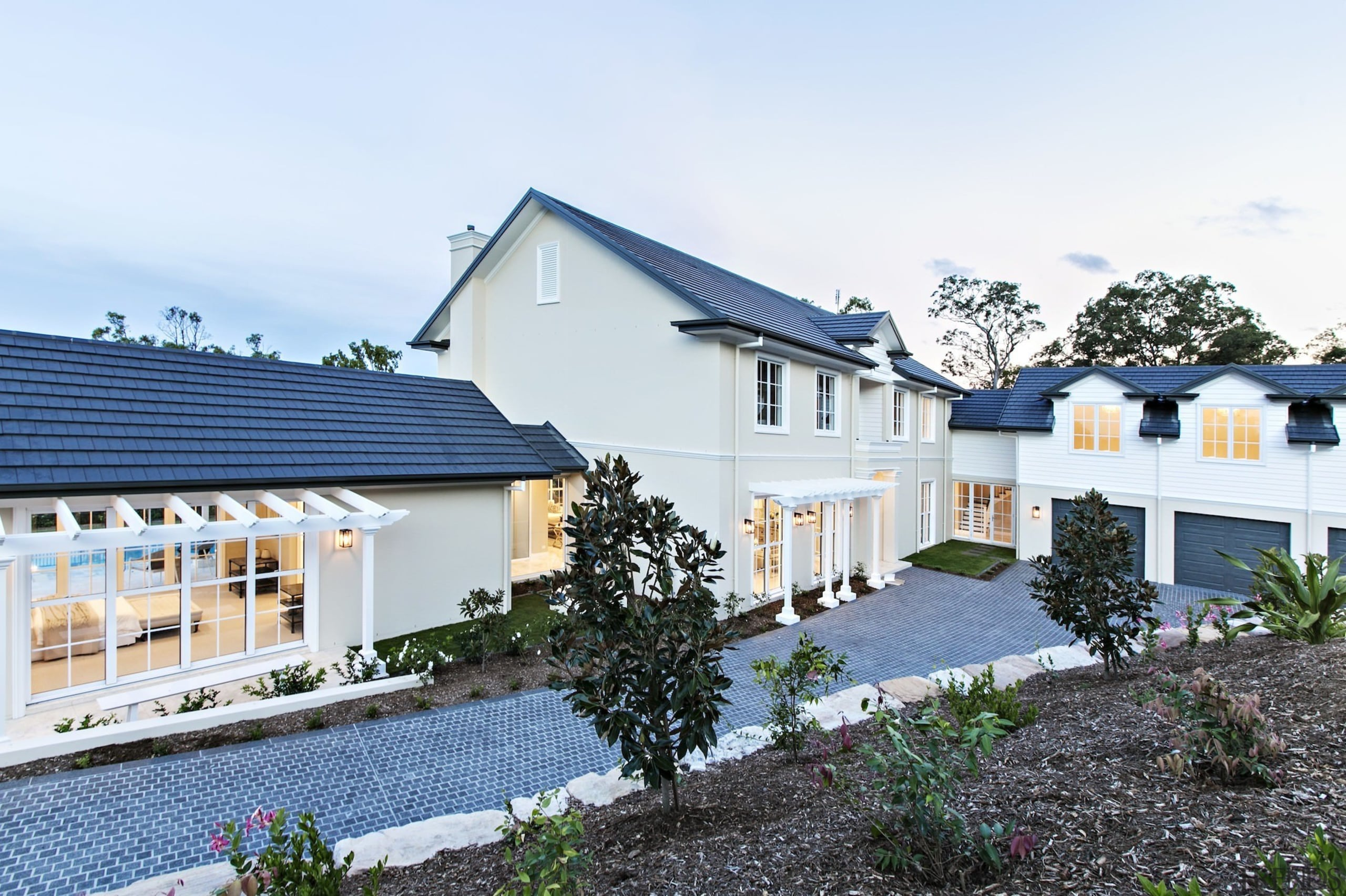 Visit the Monier Roofing website cottage, estate, facade, home, house, property, real estate, residential area, roof, window, white