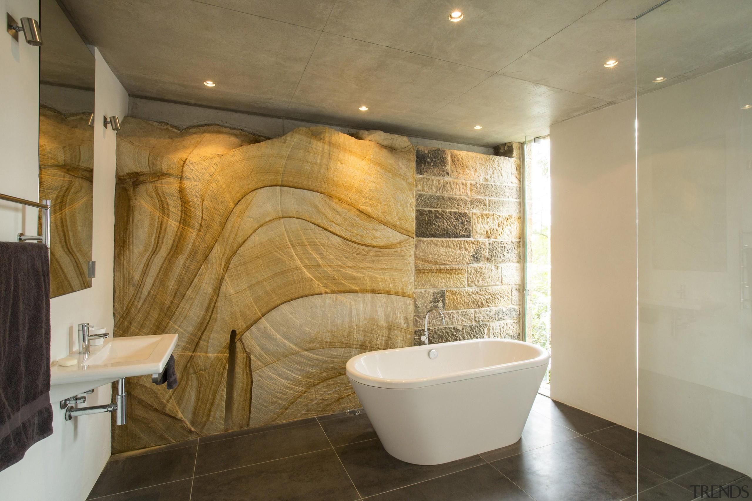 Winner Bathroom of the Year 2013 New South bathroom, ceiling, floor, flooring, interior design, property, real estate, room, tile, wall, brown, orange