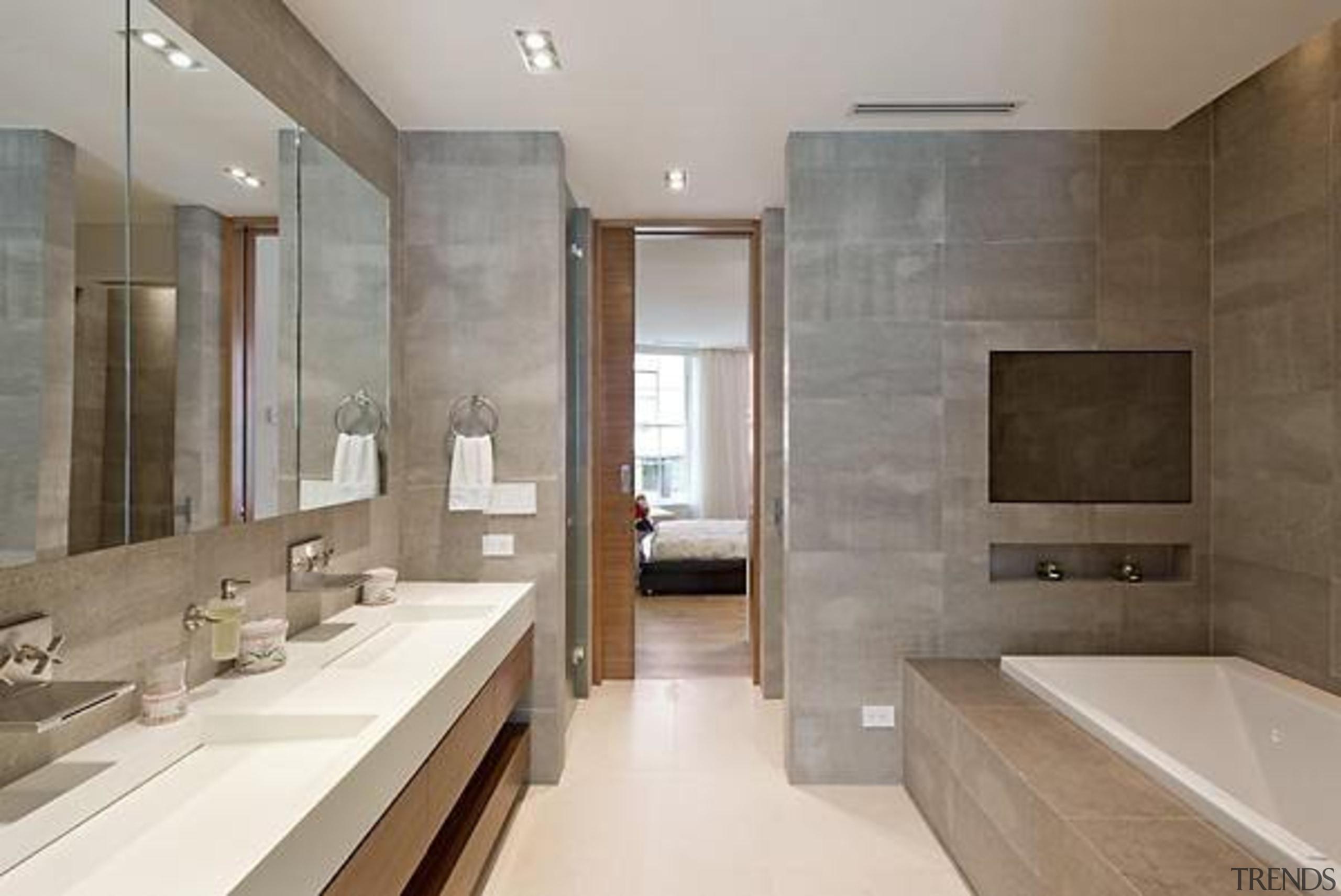 Source: Trulia architecture, bathroom, estate, floor, flooring, interior design, property, real estate, room, suite, tile, gray, brown