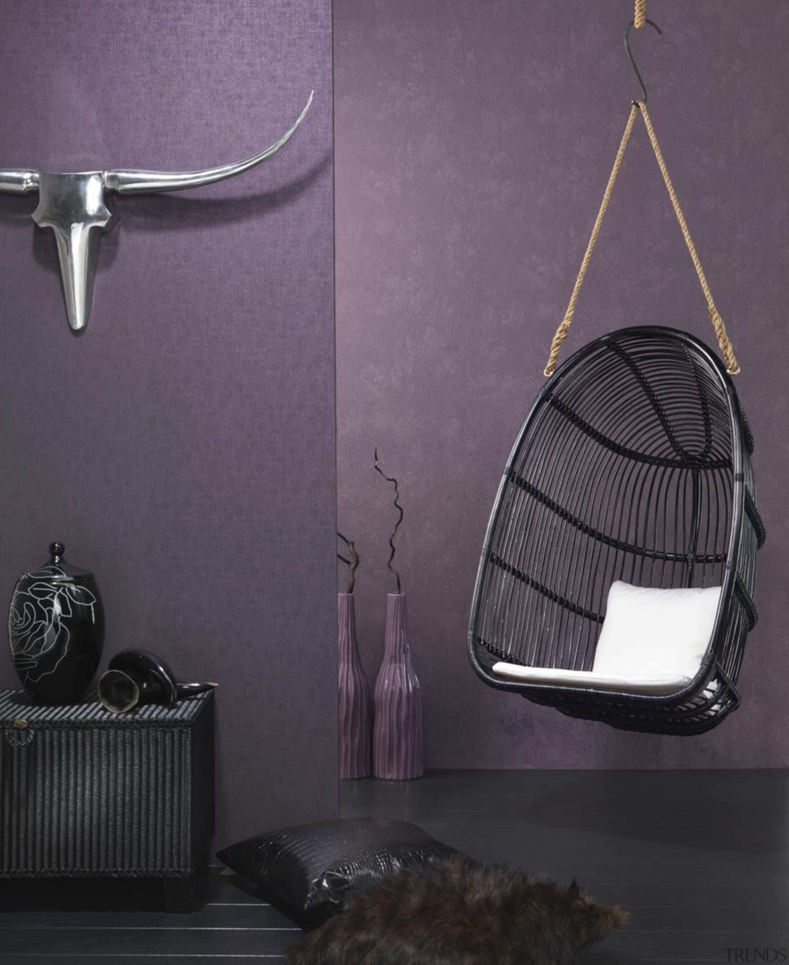 Modern Style Range - furniture   interior design furniture, interior design, lamp, light fixture, lighting, product, product design, purple, gray, black