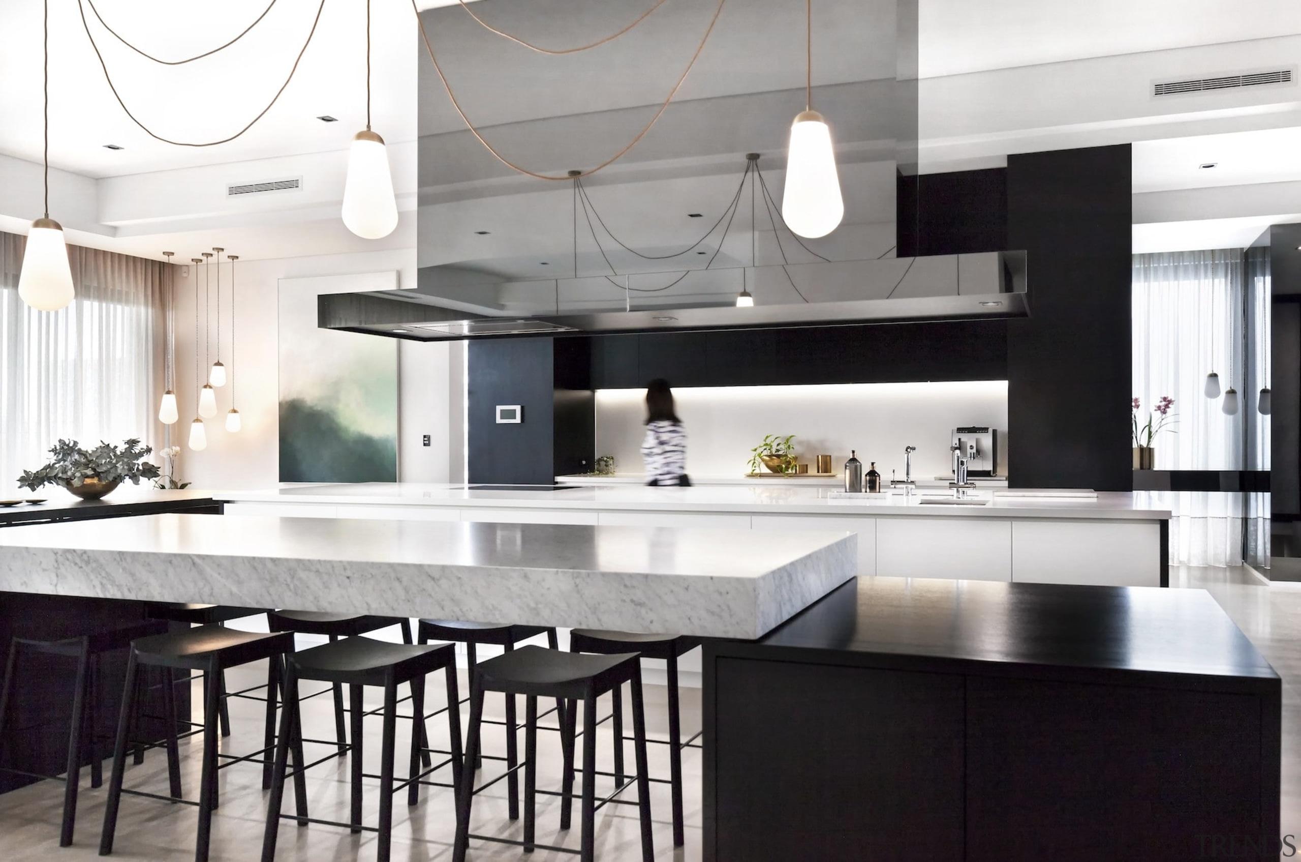 Leon House Design – Highly Commended – TIDA countertop, cuisine classique, interior design, kitchen, white, black
