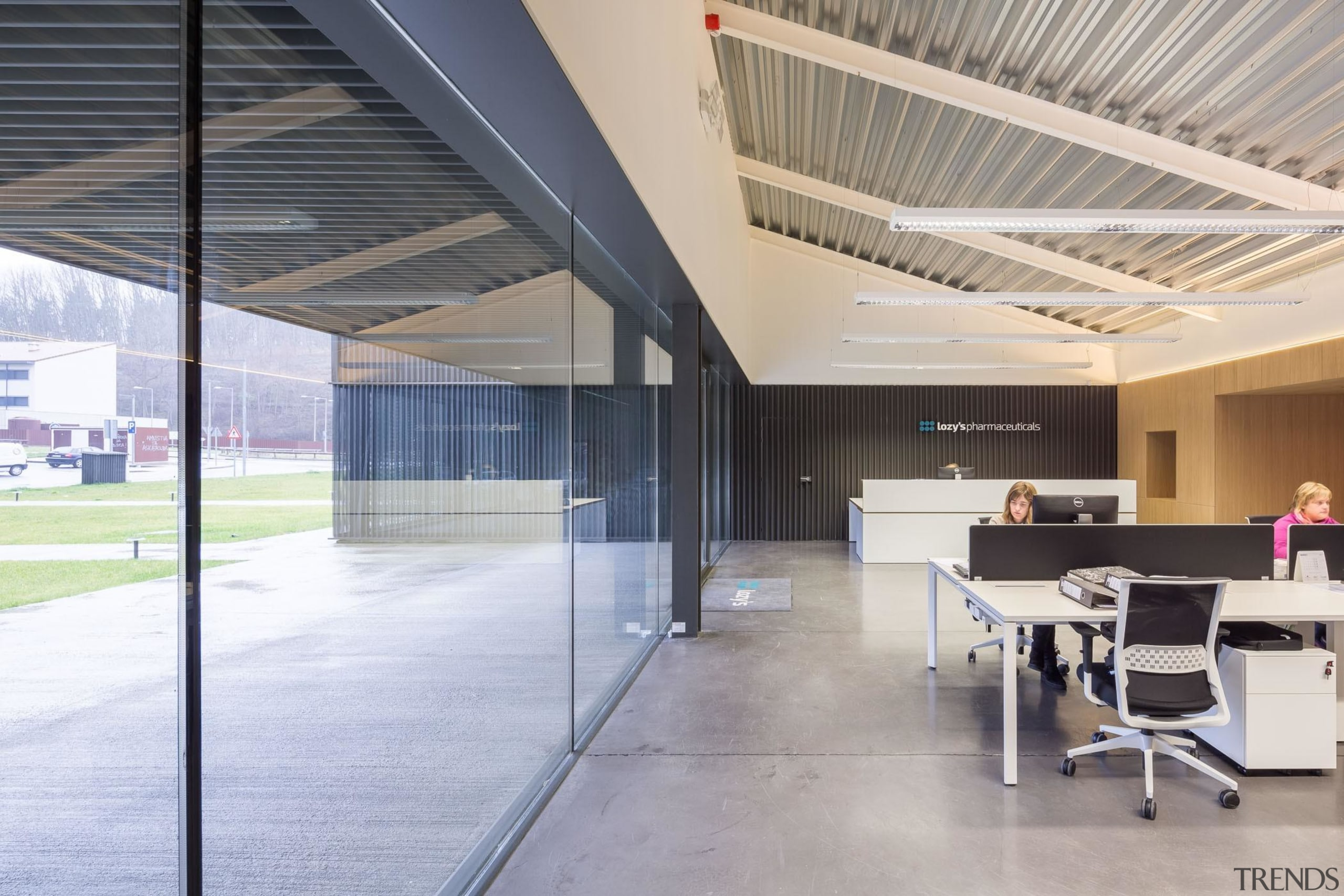 Only when standing inside do you get a architecture, ceiling, daylighting, floor, interior design, gray