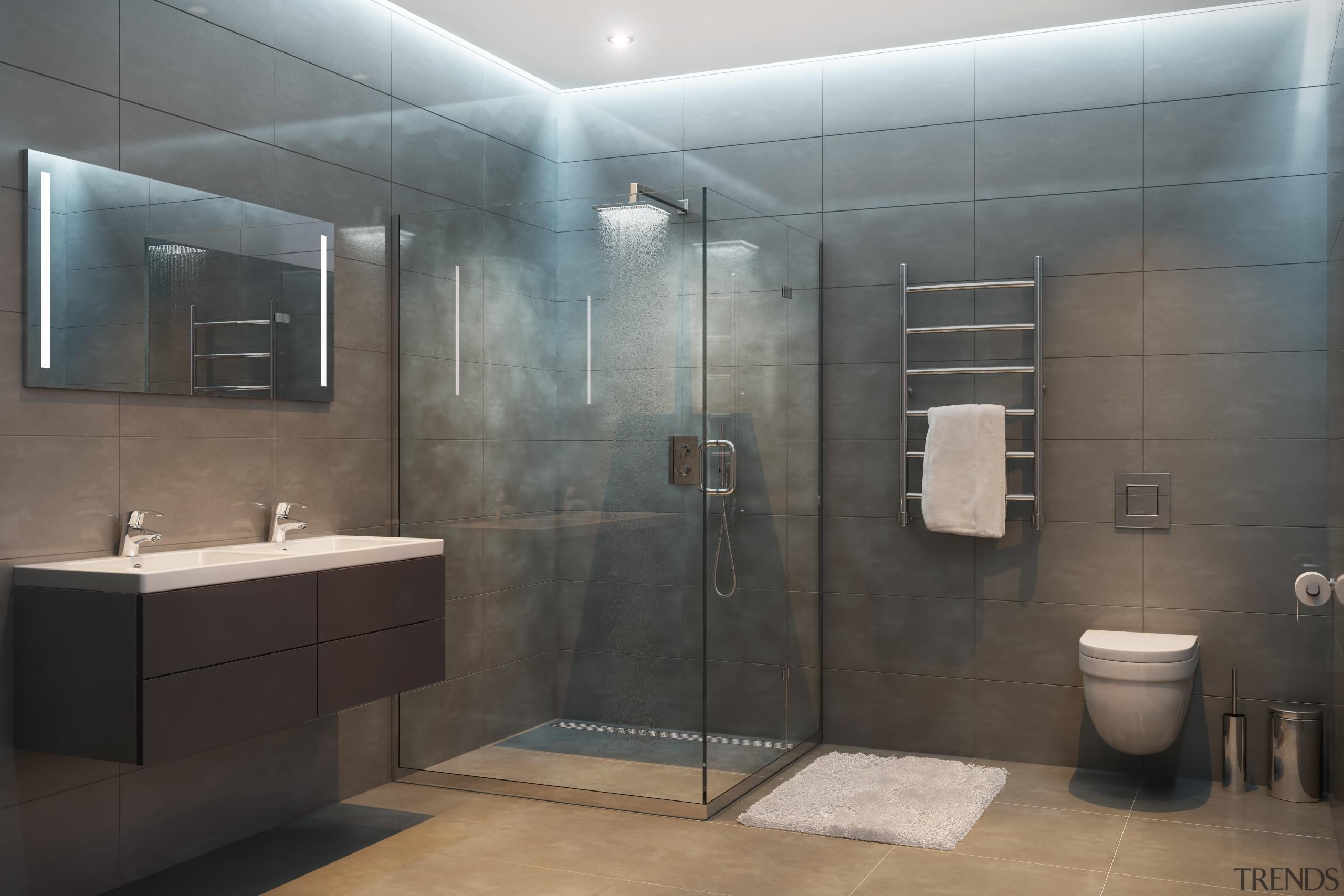 Adobestock 132932153 - bathroom | interior design | bathroom, interior design, plumbing fixture, room, gray, black