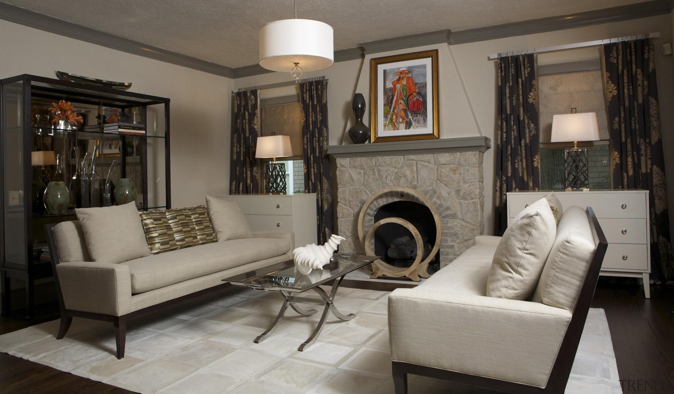 Historic Bungalow Renovation - Living Room - ceiling ceiling, floor, furniture, home, interior design, living room, property, room, wall, gray, black