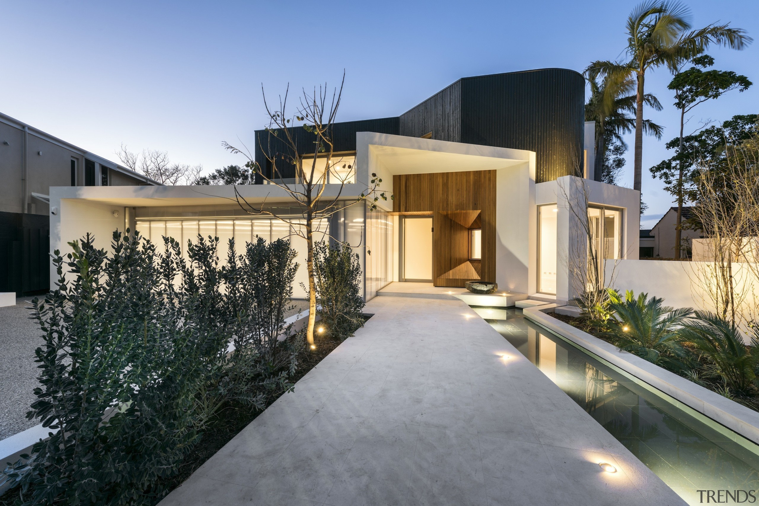Hillam Architects - HIghly Commended – 2016 TIDA architecture, building, estate, facade, home, house, property, real estate, residential area, roof, villa, gray