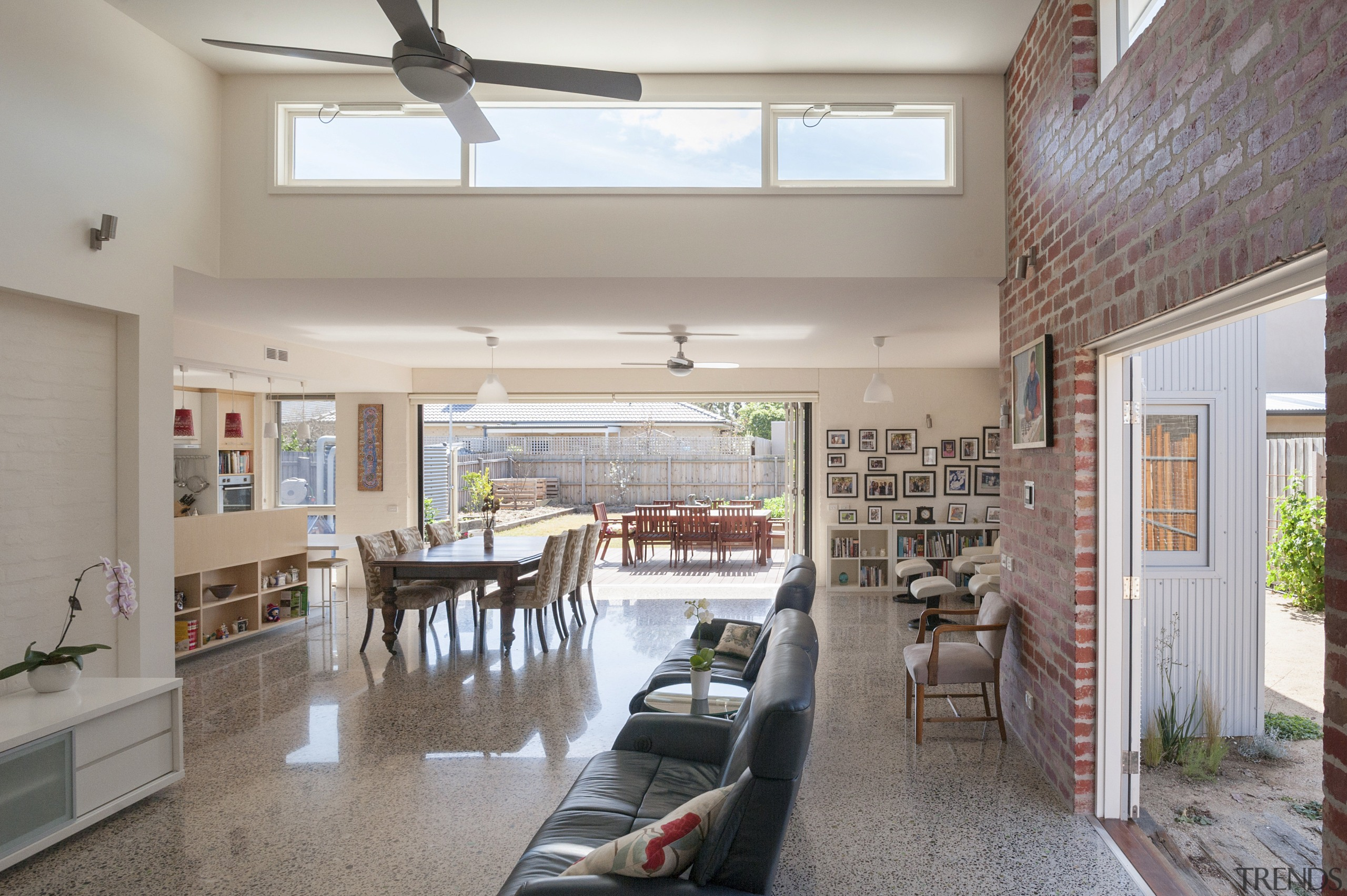 Multi-generational living with accessible design and a greenhouse ceiling, daylighting, home, house, interior design, living room, property, real estate, window, gray