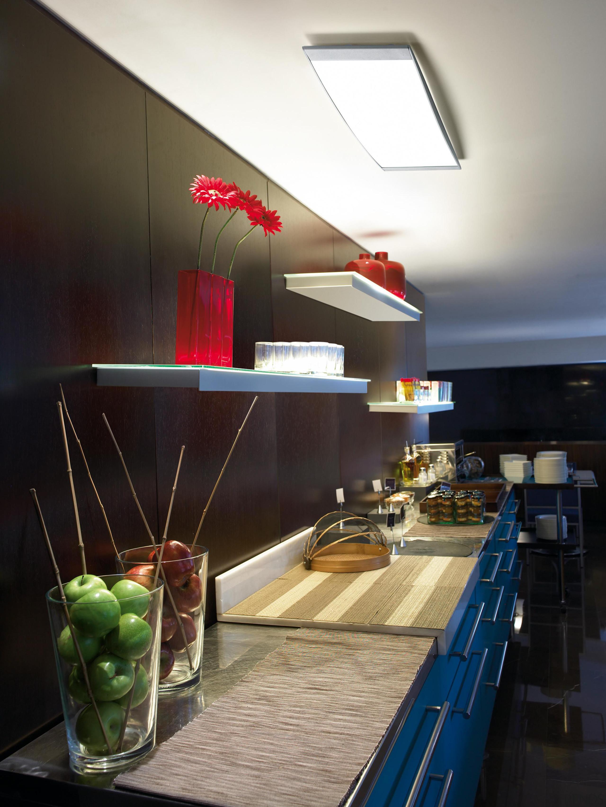 Alpen from La Creu, Spain - Ceiling Lights ceiling, countertop, interior design, kitchen, table, black