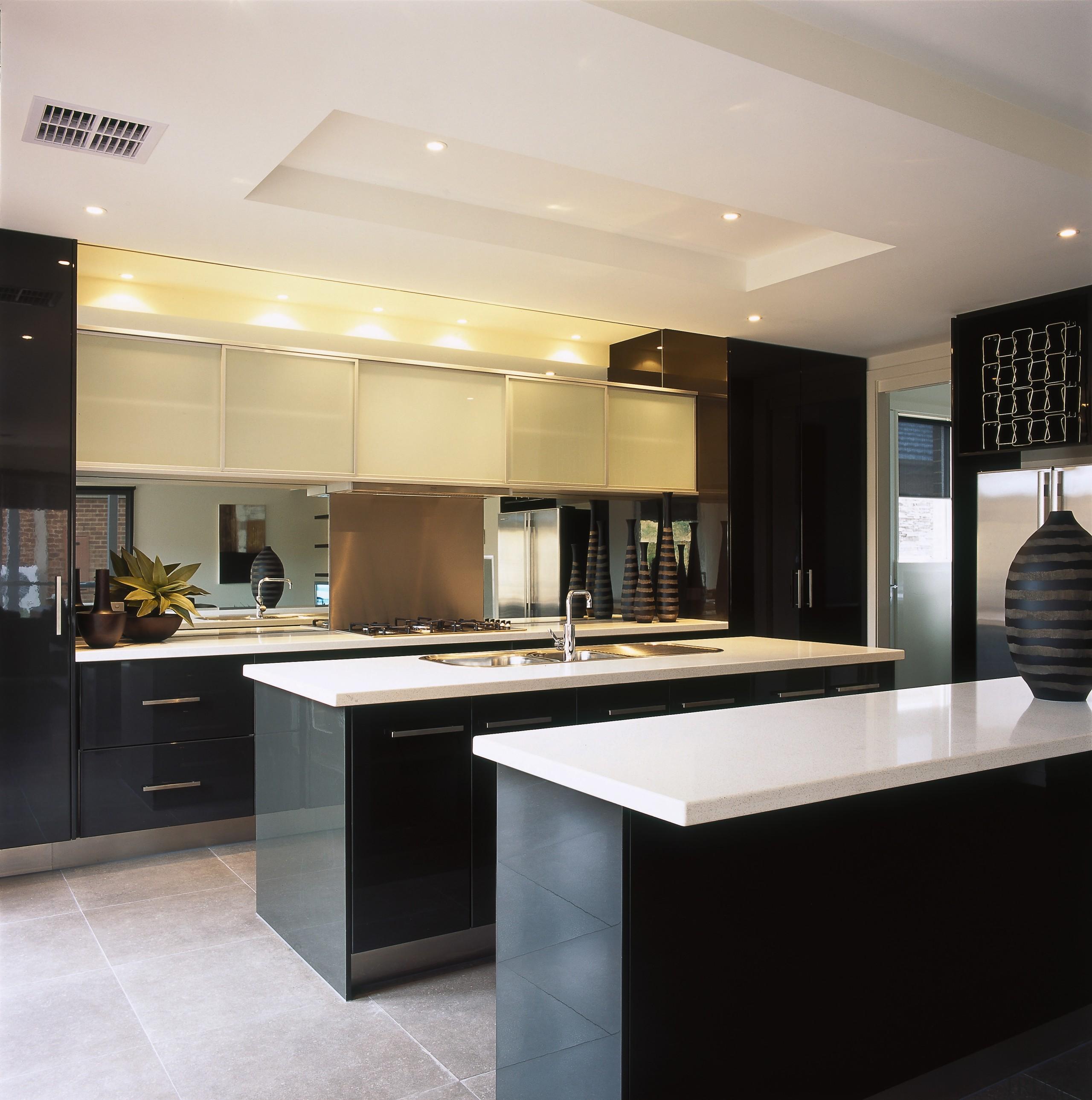 interior view of kitchen area - interior view cabinetry, ceiling, countertop, cuisine classique, interior design, kitchen, gray, black