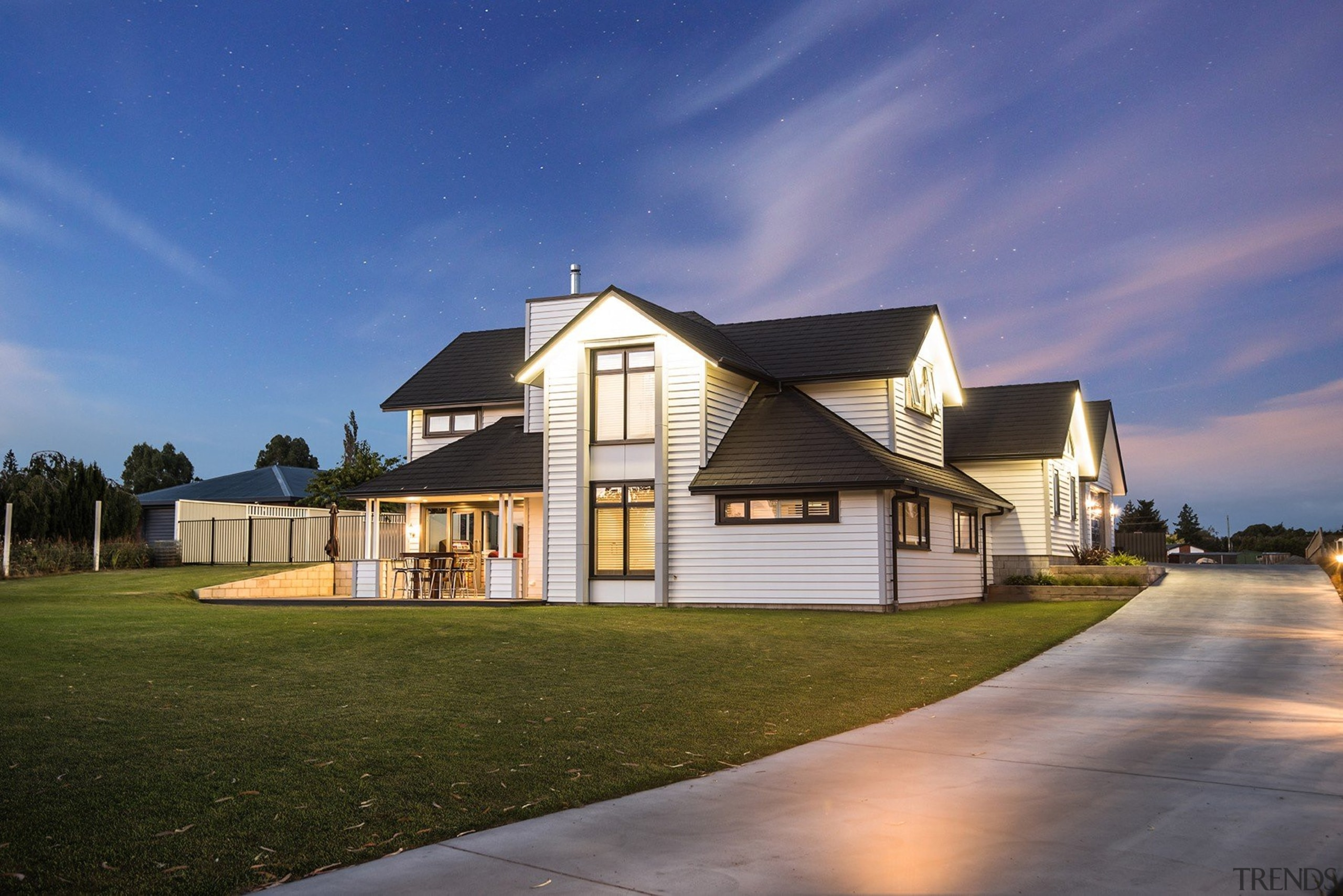 Stunning Two Storey Weatherboard House - Stunning Two architecture, building, cloud, cottage, estate, evening, facade, farmhouse, home, house, property, real estate, residential area, sky, suburb, blue