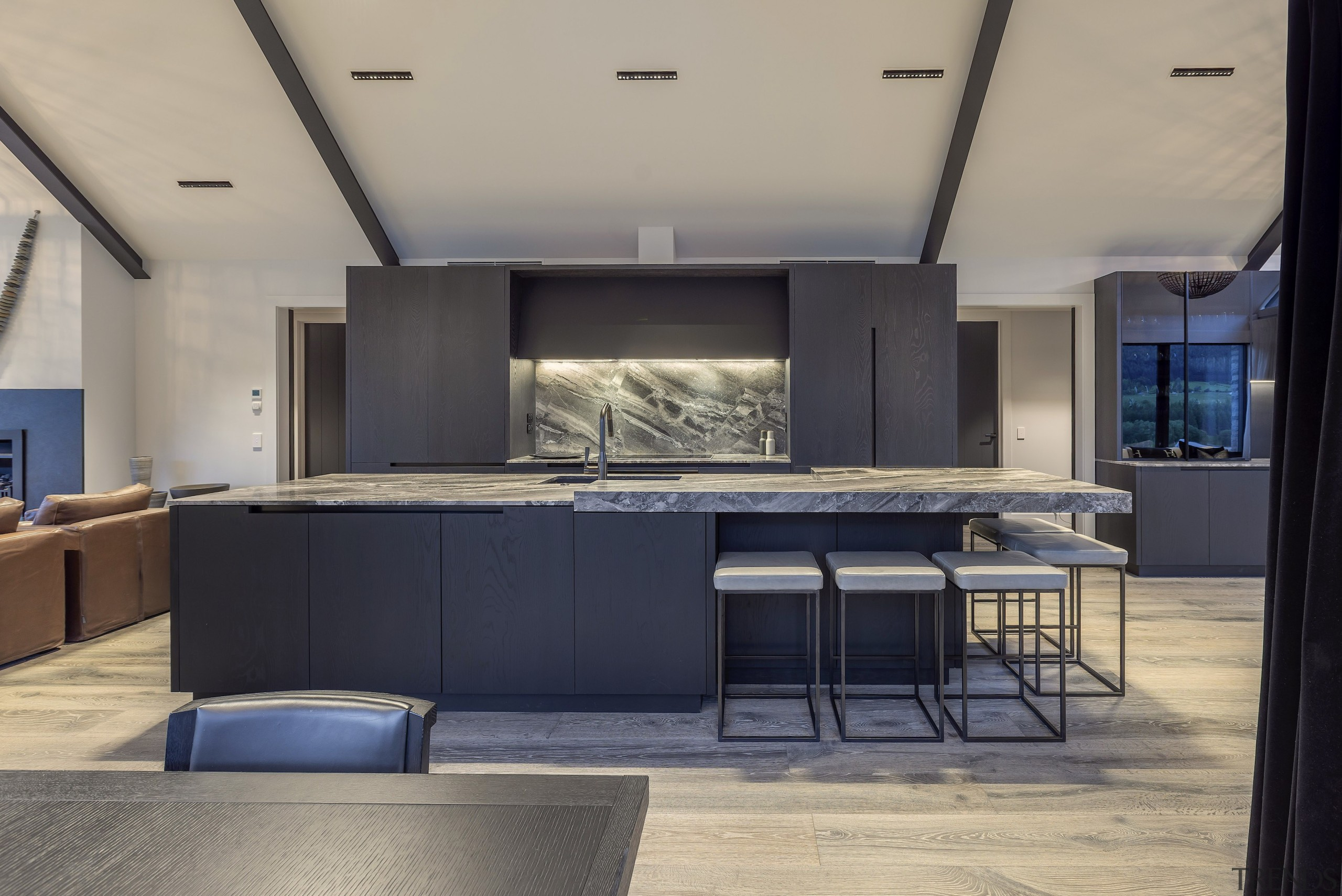 The owners wanted a classically modern kitchen at