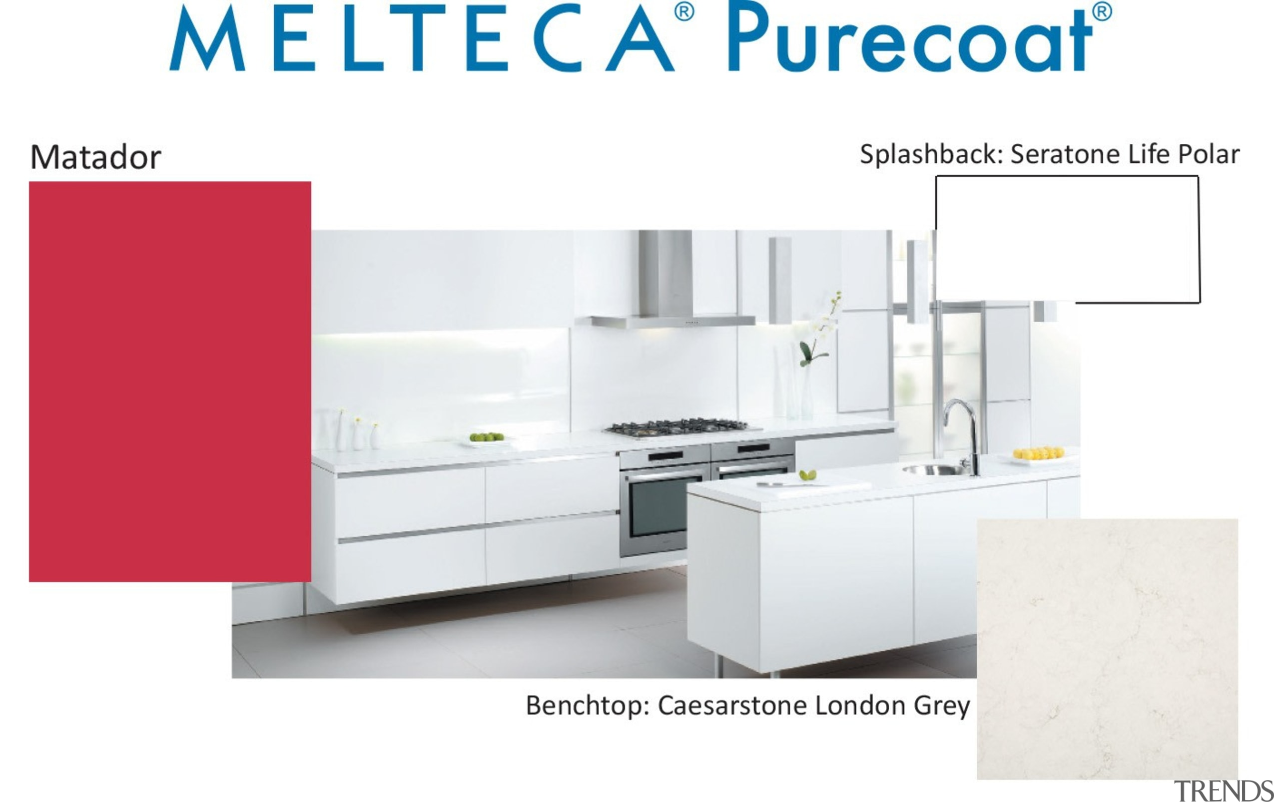 New Zealand made Melteca Purecoat surfaces utilise cutting-edge furniture, kitchen, product, product design, white