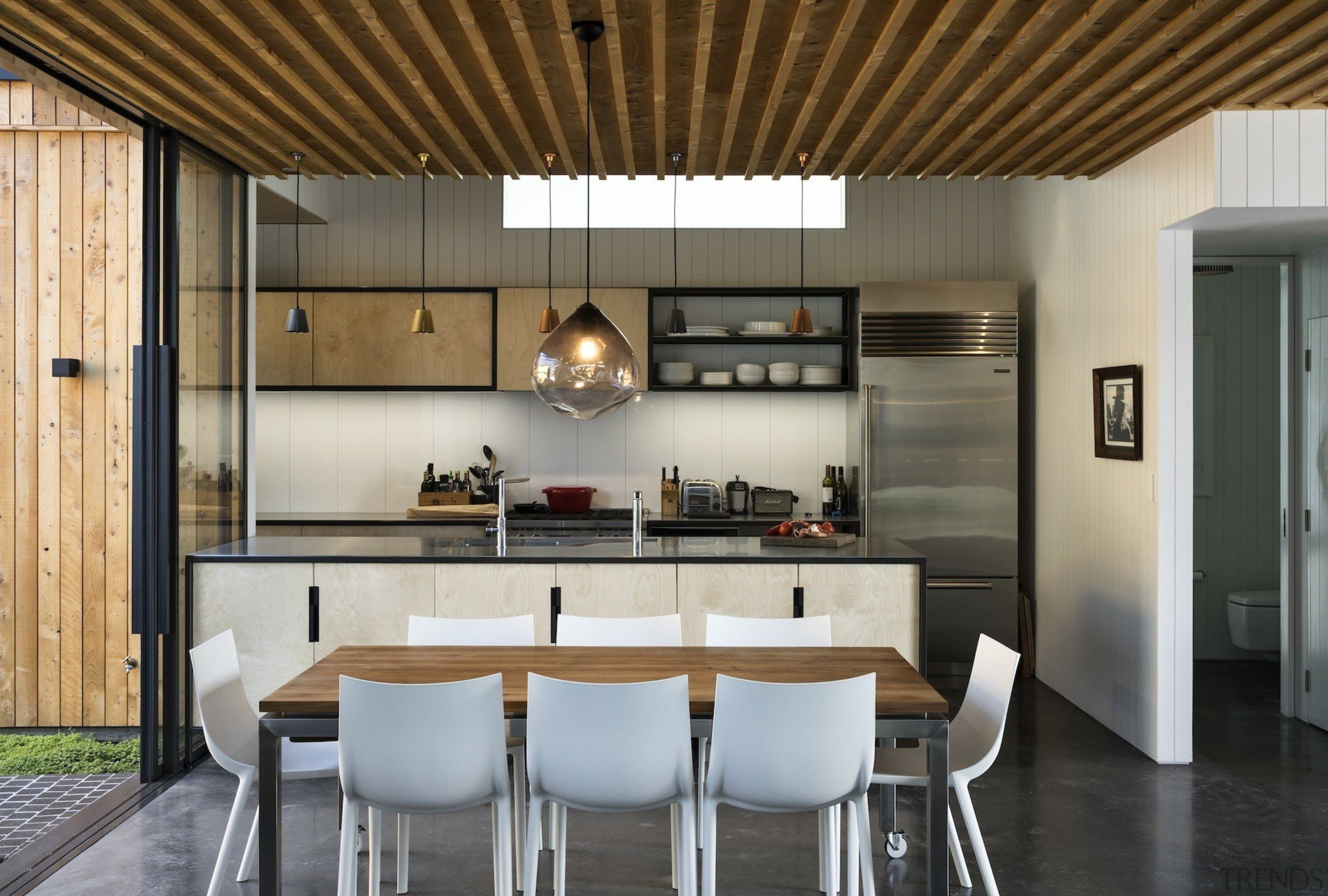 Strachan Group Architects  – TIDA New architecture, ceiling, countertop, cuisine classique, dining room, house, interior design, kitchen, gray, brown