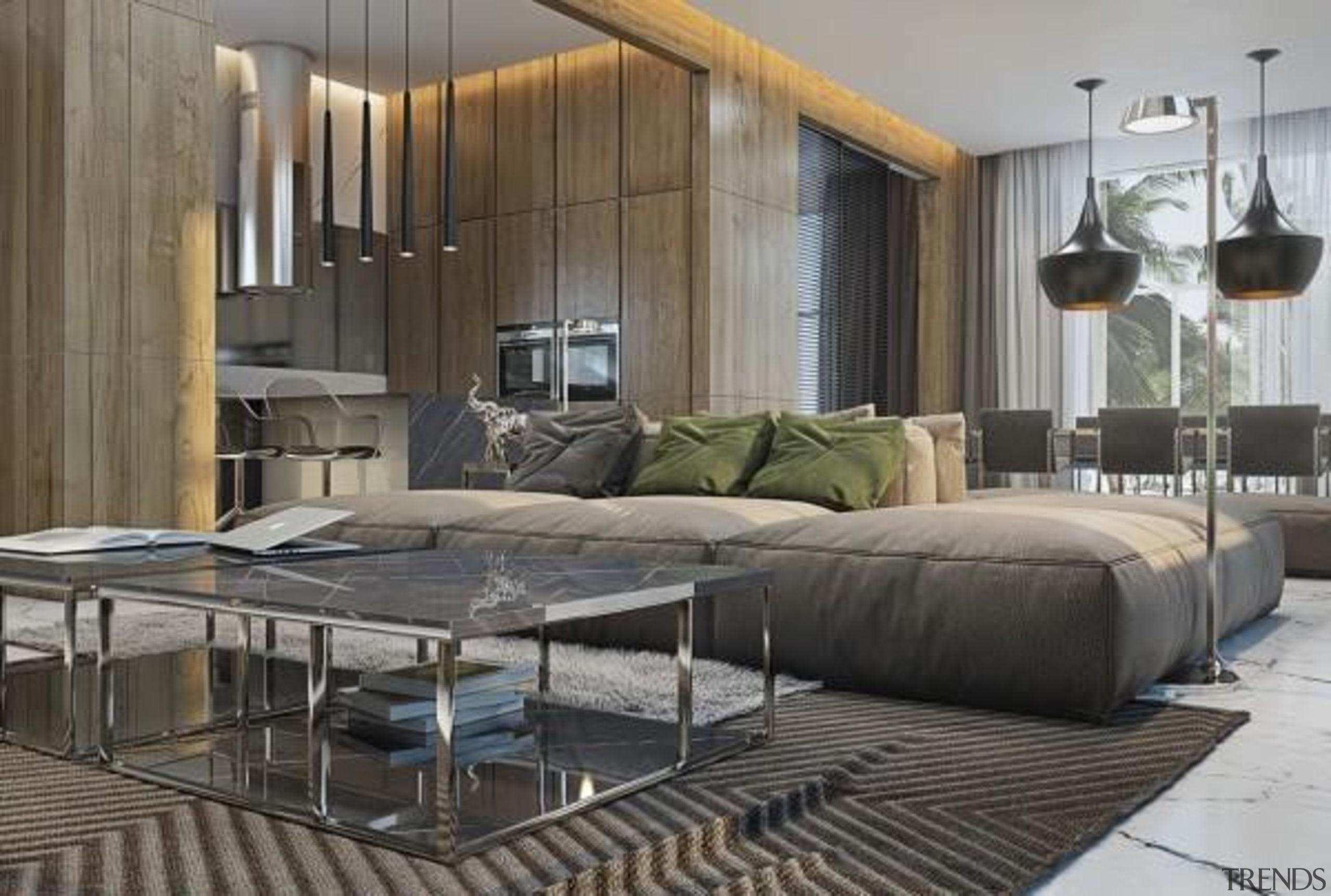 modern style apartment interior - Masculine Apartments - furniture, interior design, living room, gray, black