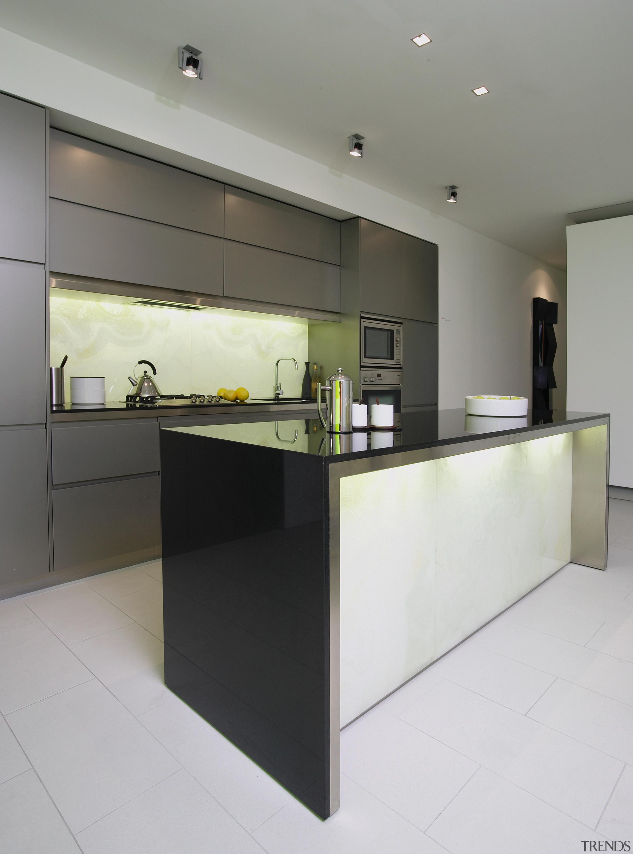 view of the quantum quartz black benchtop - architecture, cabinetry, countertop, floor, interior design, kitchen, product design, property, real estate, gray