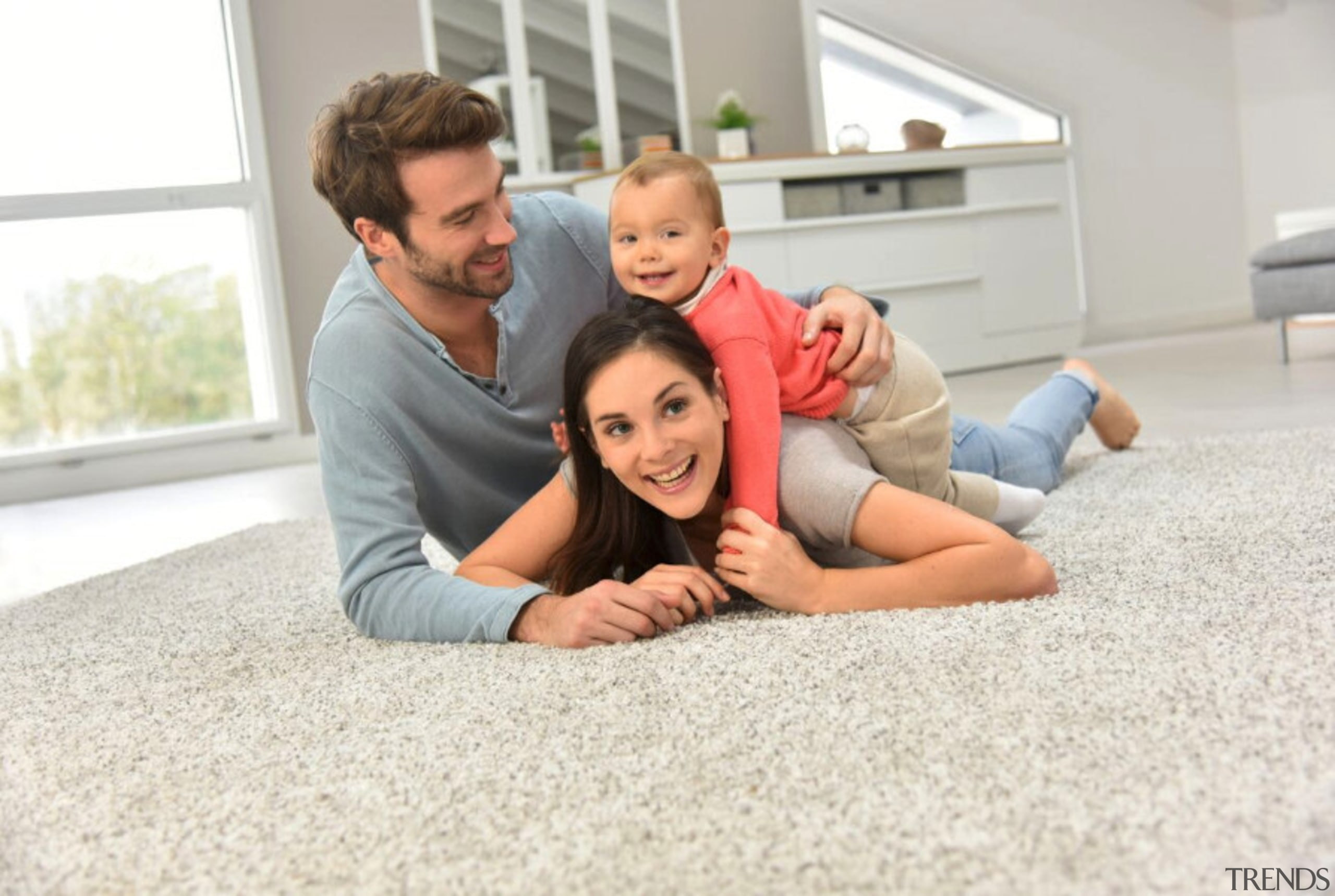 Underfloor heating - Underfloor heating - child | child, family, father, flooring, fun, people, photograph, photography, sitting, white
