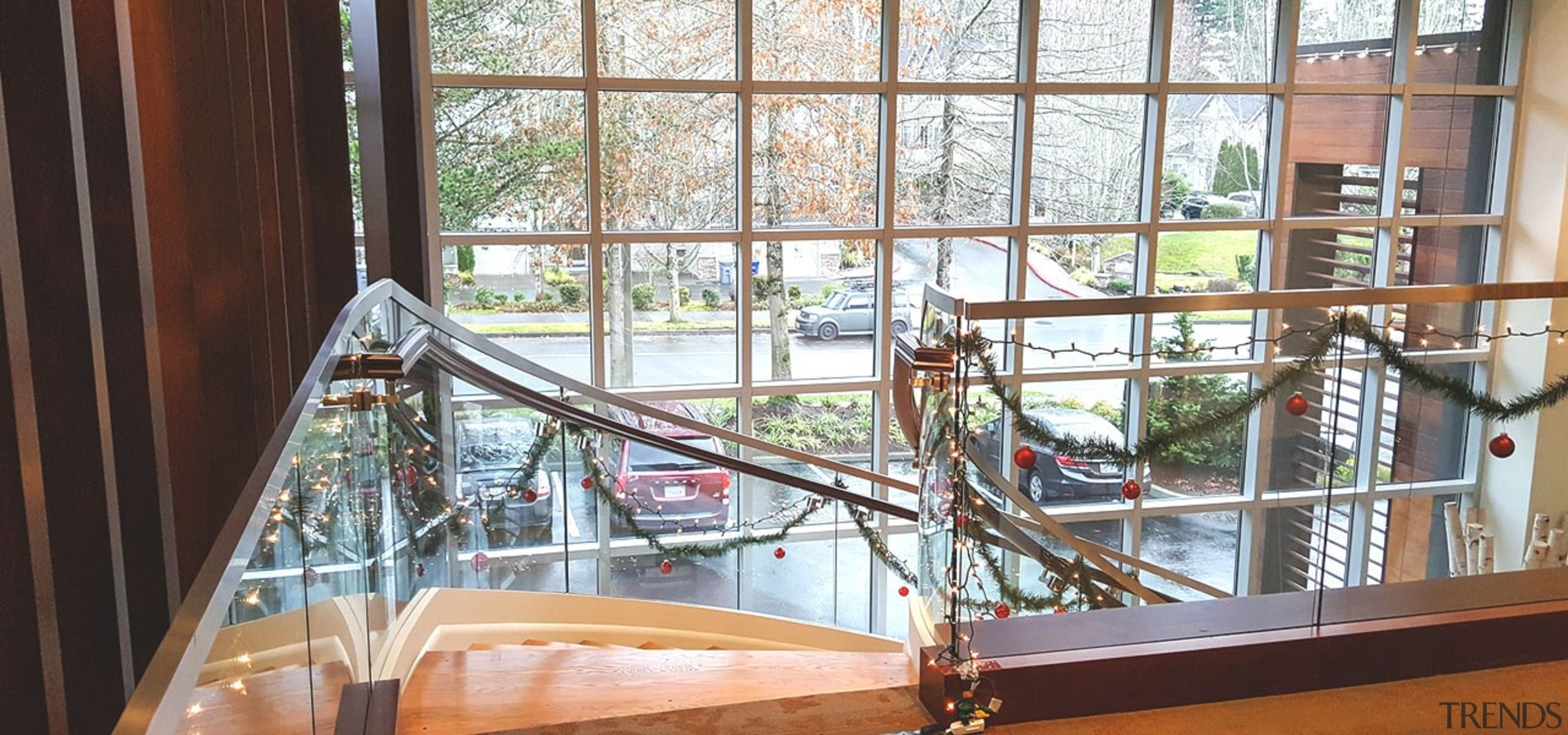 Aegis Living 04 - architecture | daylighting | architecture, daylighting, glass, handrail, room, window, wood, white