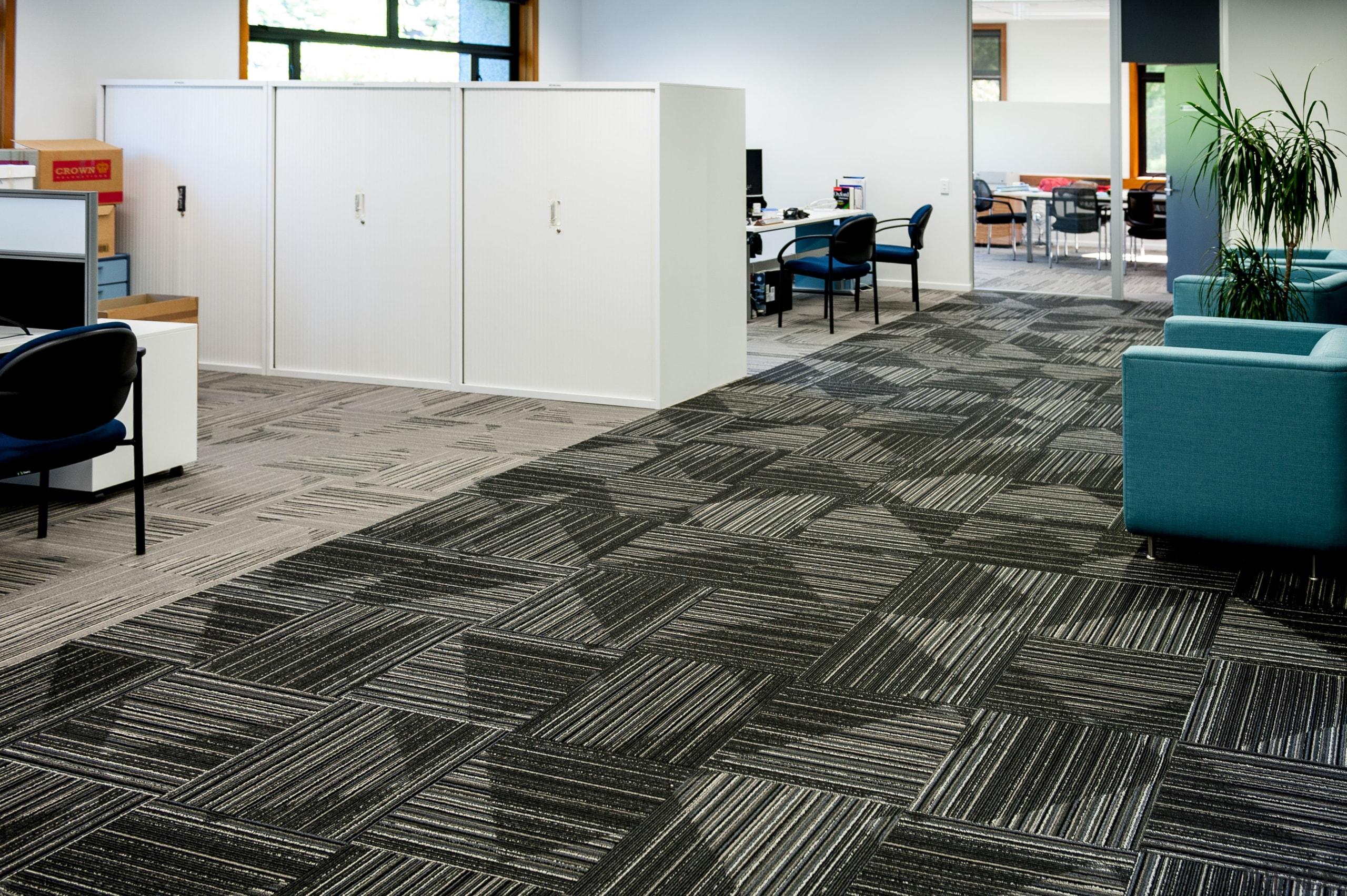 Durable, good-looking carpet tiles for commercial use carpet, floor, flooring, hardwood, interior design, laminate flooring, tile, wood, wood flooring, black, white