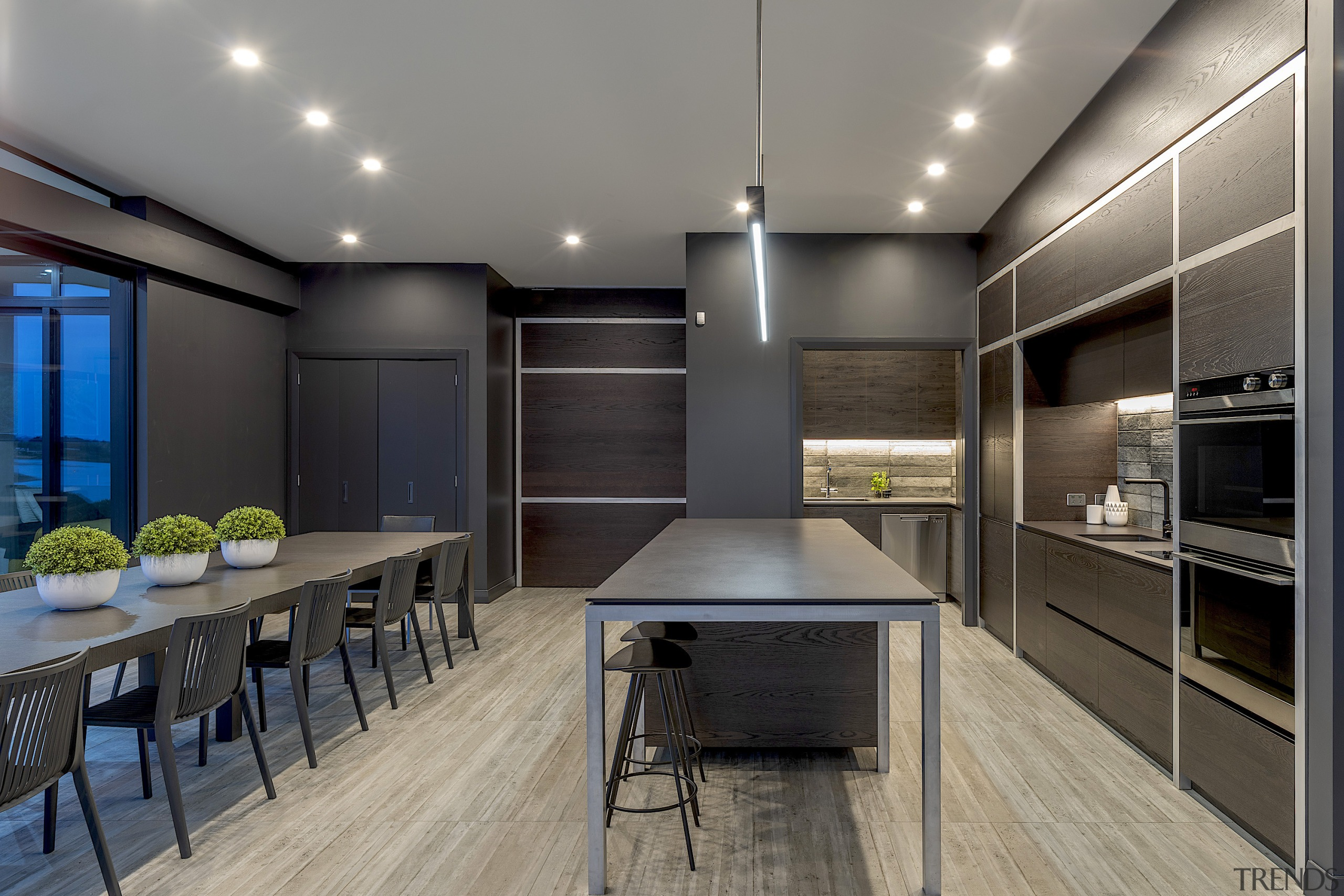This Cube Dentro-designed and built kitchen had to gray, black