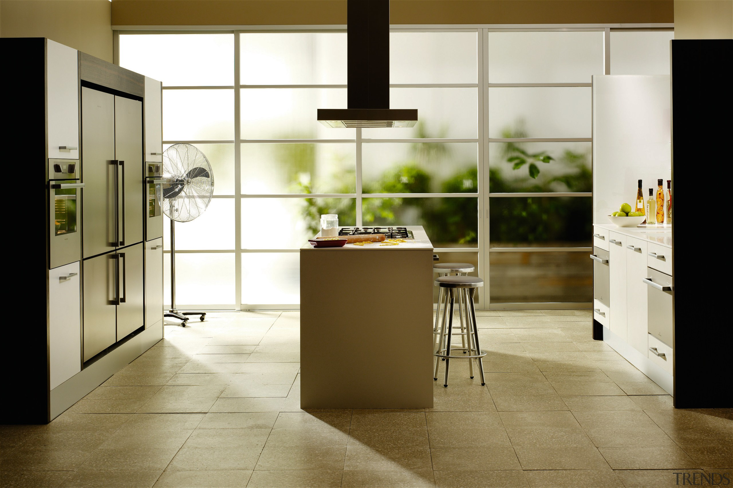 Examples of the new Fisher & Paykel technology cabinetry, countertop, cuisine classique, floor, flooring, home appliance, interior design, kitchen, laminate flooring, room, tile, wood flooring, brown, white