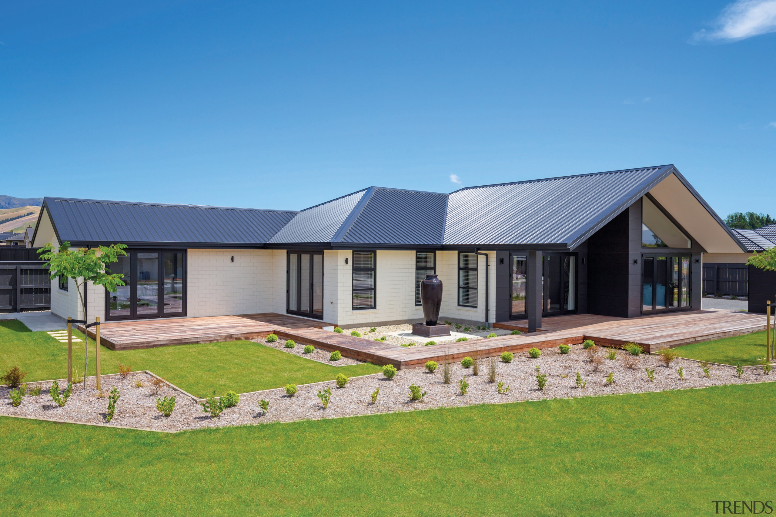 The correct choice of cladding not only affects facade, home, house, land lot, landscape, property, residential area, roof, siding, gj gardner homes
