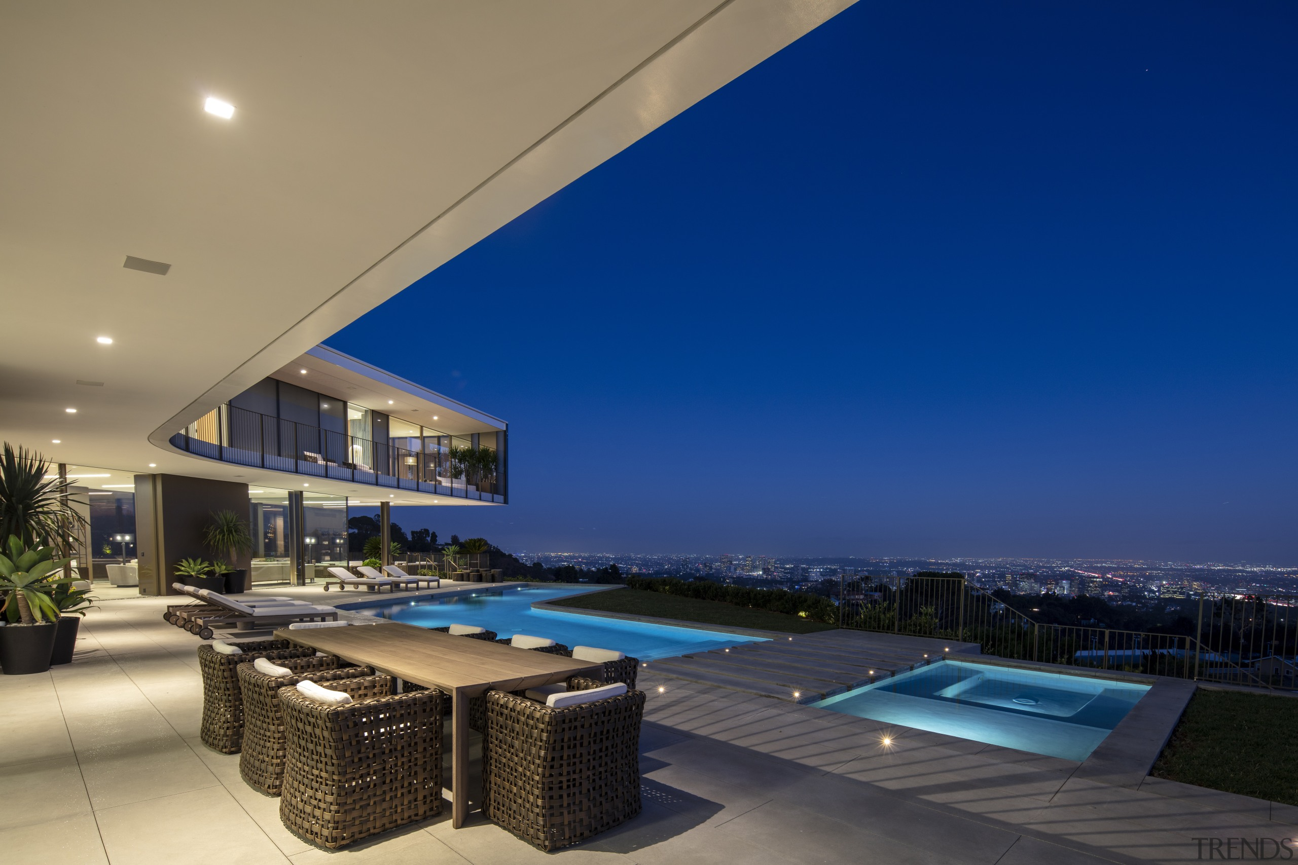Balancing scale, views and comfort was the biggest architecture, ceiling, design, furniture, home, house, lighting, LED, swimming pool, spa, outdoor patio, spfa