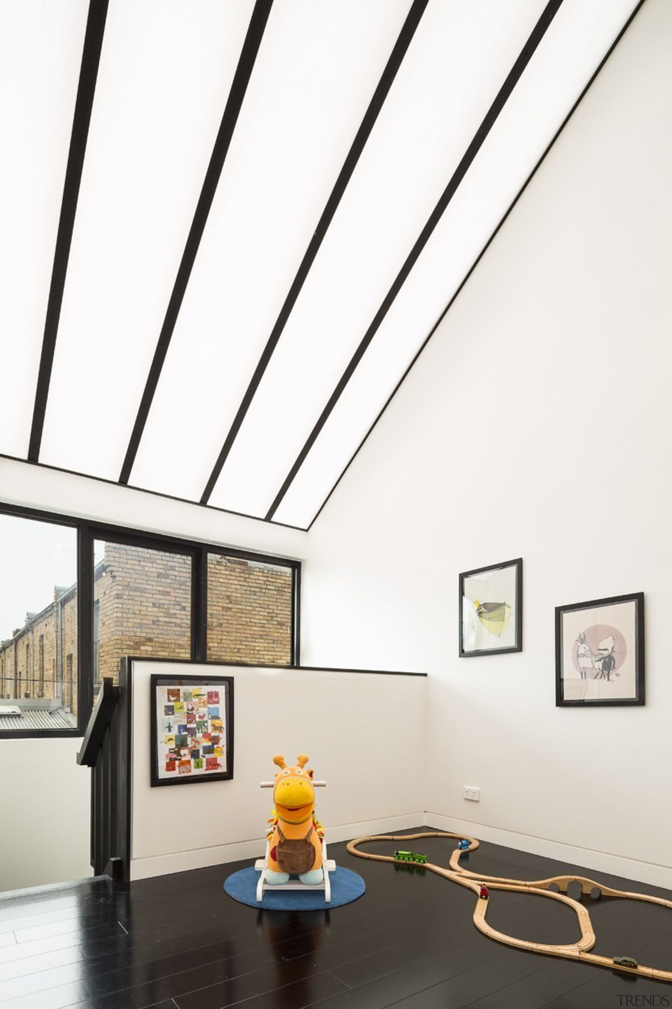 There's no shortage of natural light in this ceiling, daylighting, house, interior design, product design, tourist attraction, white