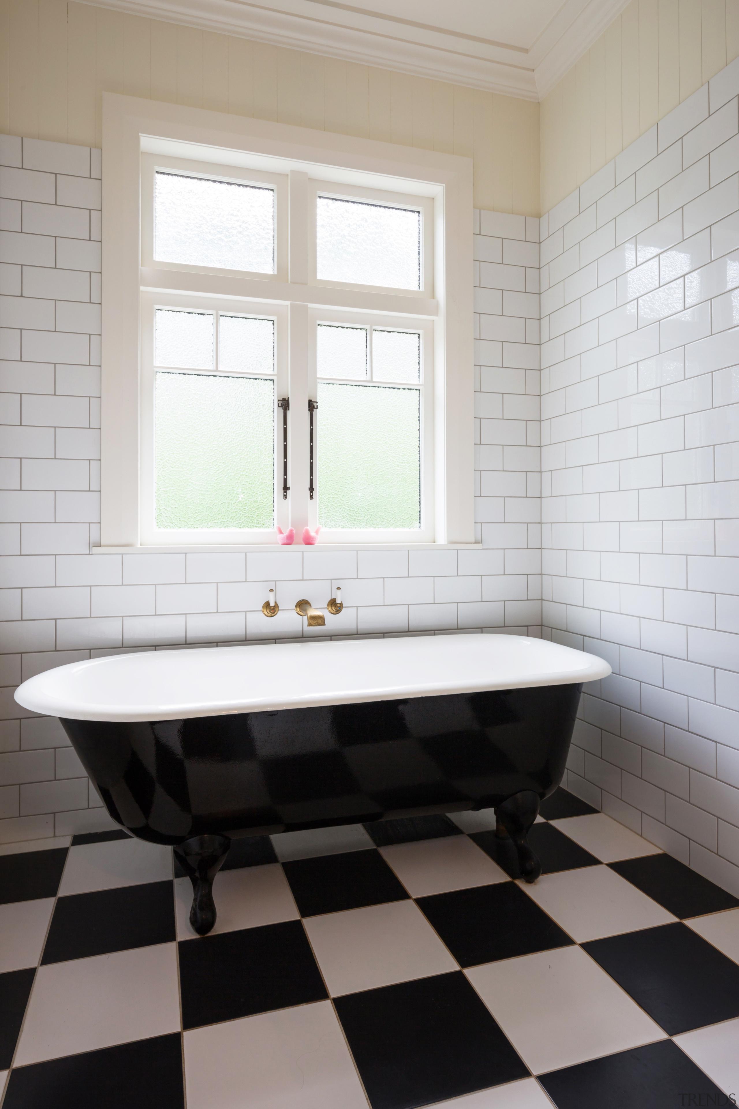 Ensuite 2 - bathroom | floor | flooring bathroom, floor, flooring, home, interior design, plumbing fixture, room, sink, tile, wall, window, gray, white