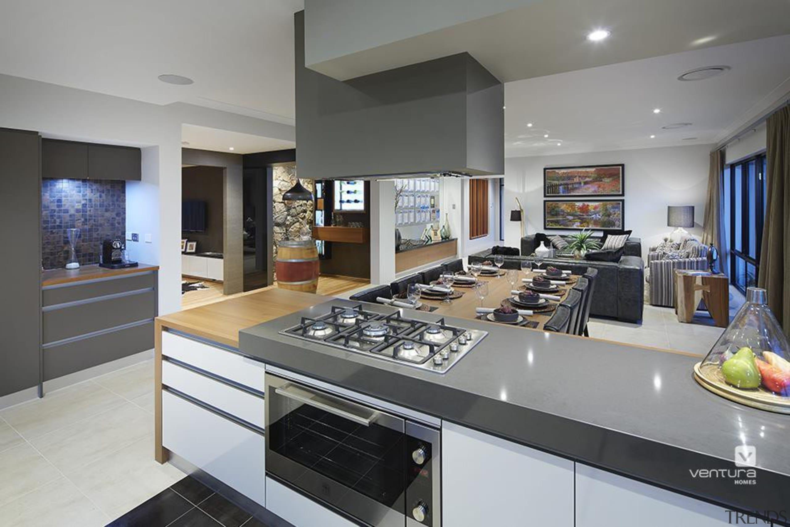 Kitchen design. - The Macquarie Display Home - countertop, interior design, kitchen, gray