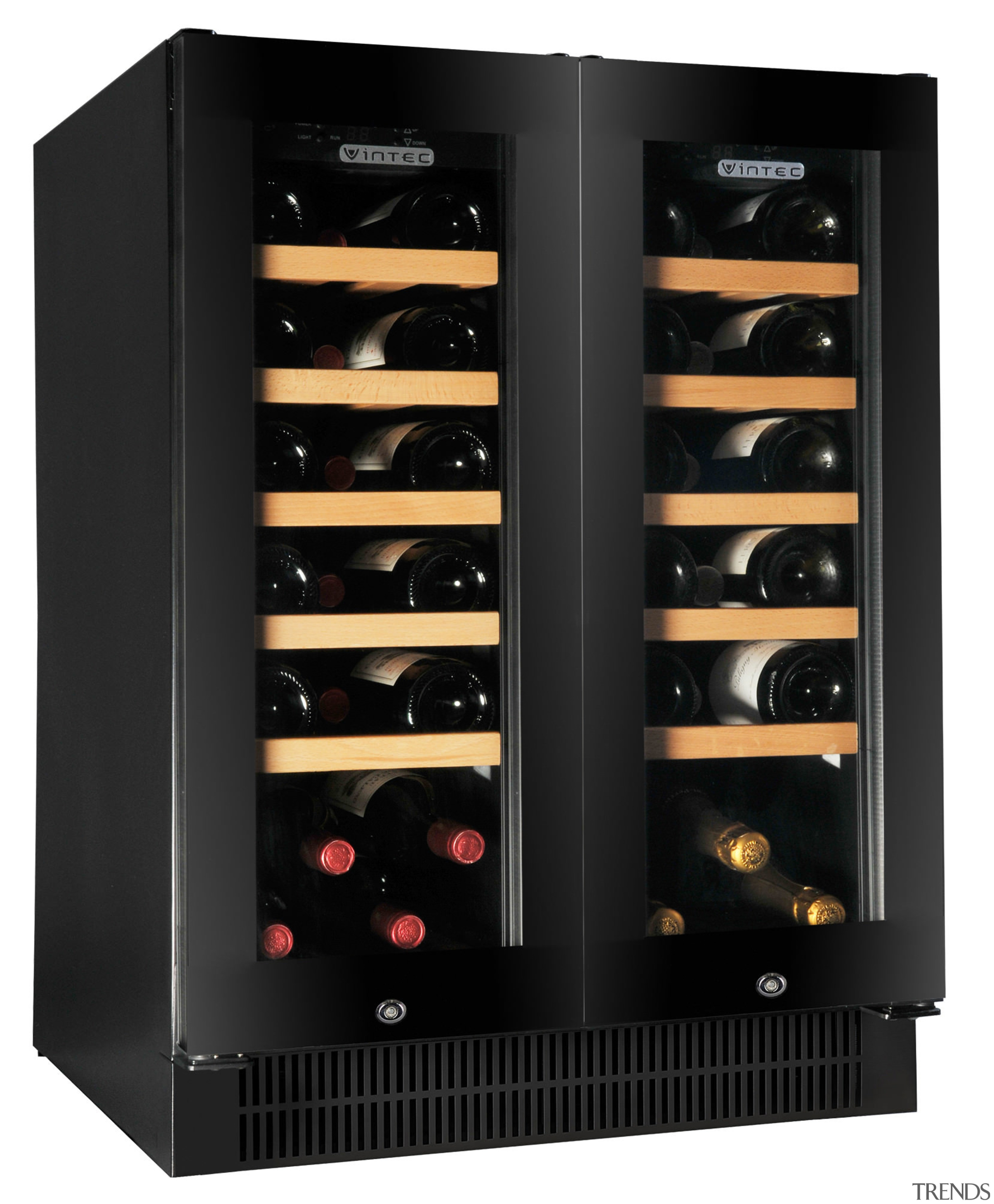 A collection of fine wine shouldnt be relegated home appliance, kitchen appliance, product, black