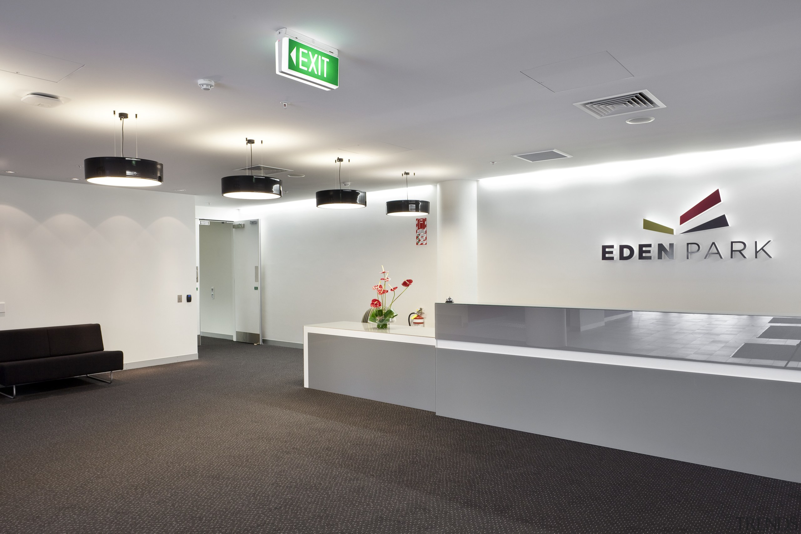 Singer Group undertook the broad array of electrical ceiling, floor, interior design, office, product design, gray, white