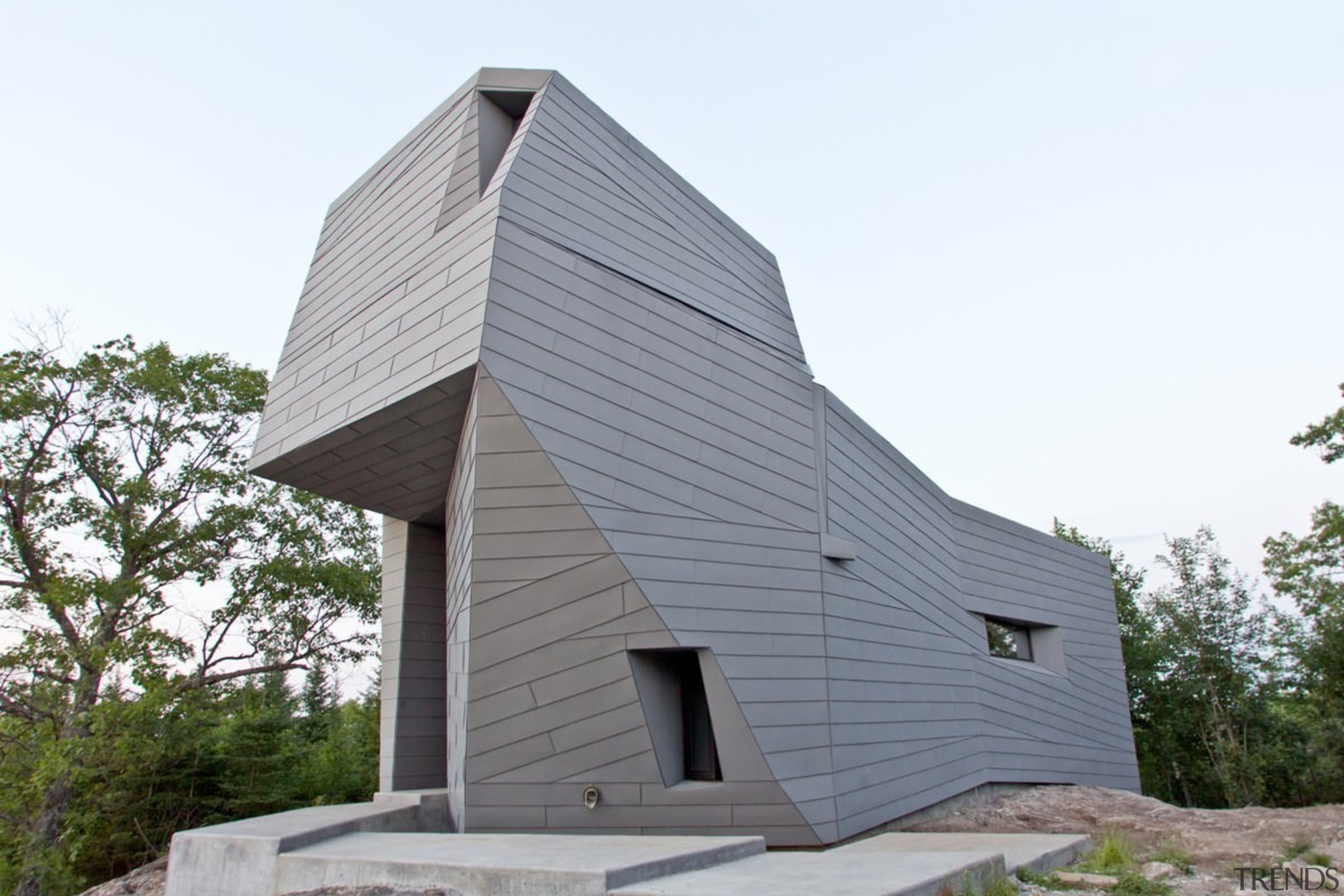 The rotating structure in the default position - architecture, barn, building, facade, home, house, siding, white, gray