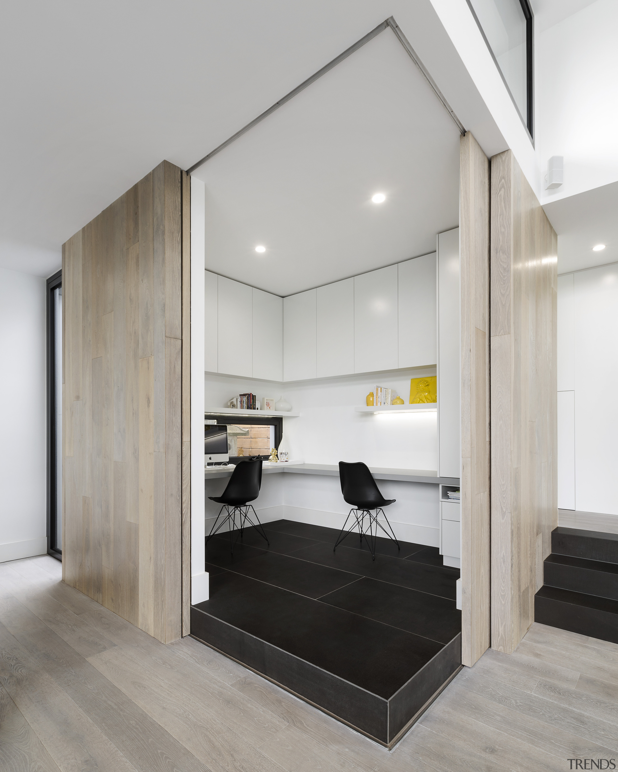 Box office draw – part of a wider timber floor, flooring, furniture, office, LSA Architects
