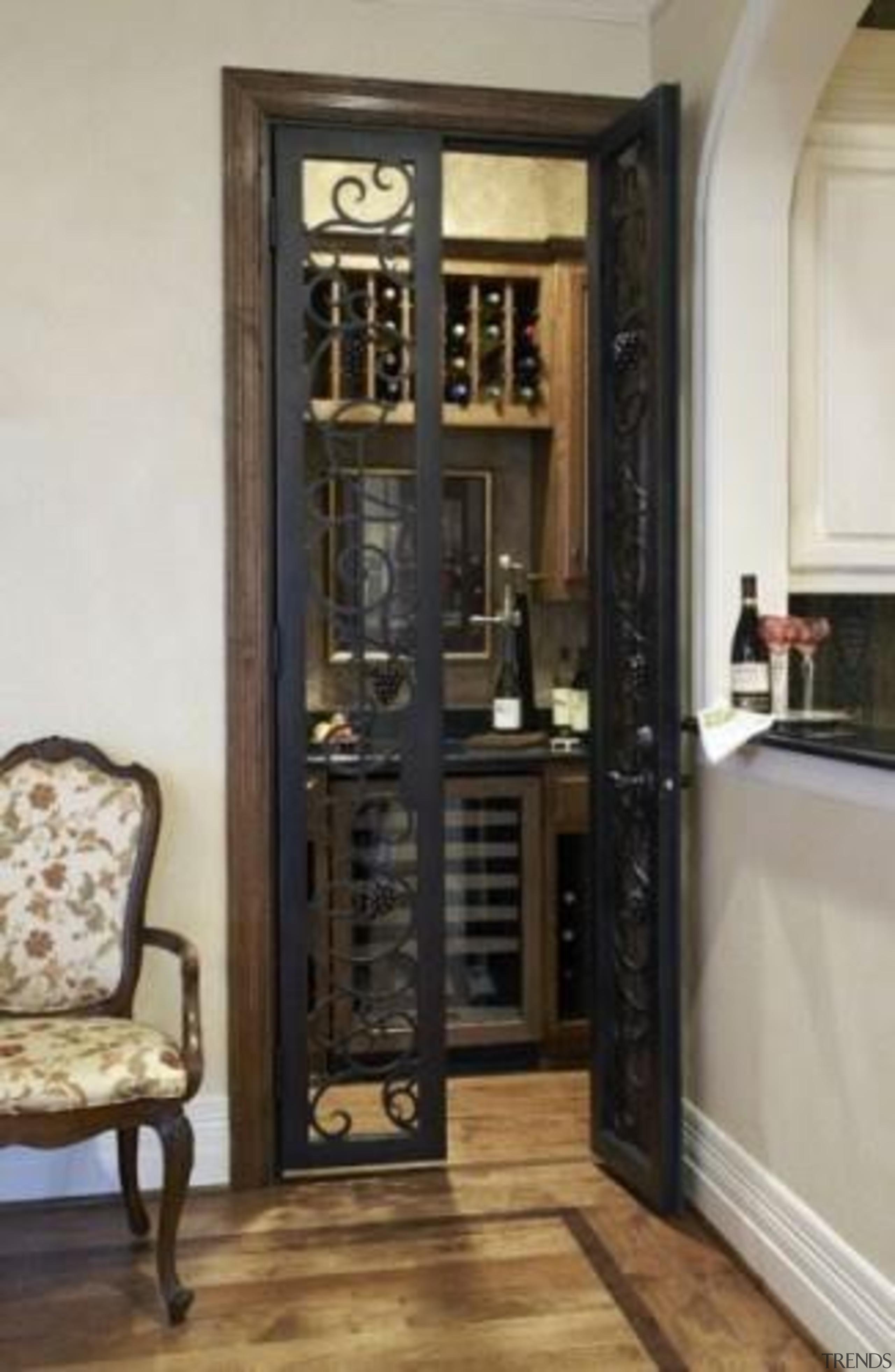 Modern Wine Cellar Ideas - Modern Wine Cellar cabinetry, door, furniture, gray, black