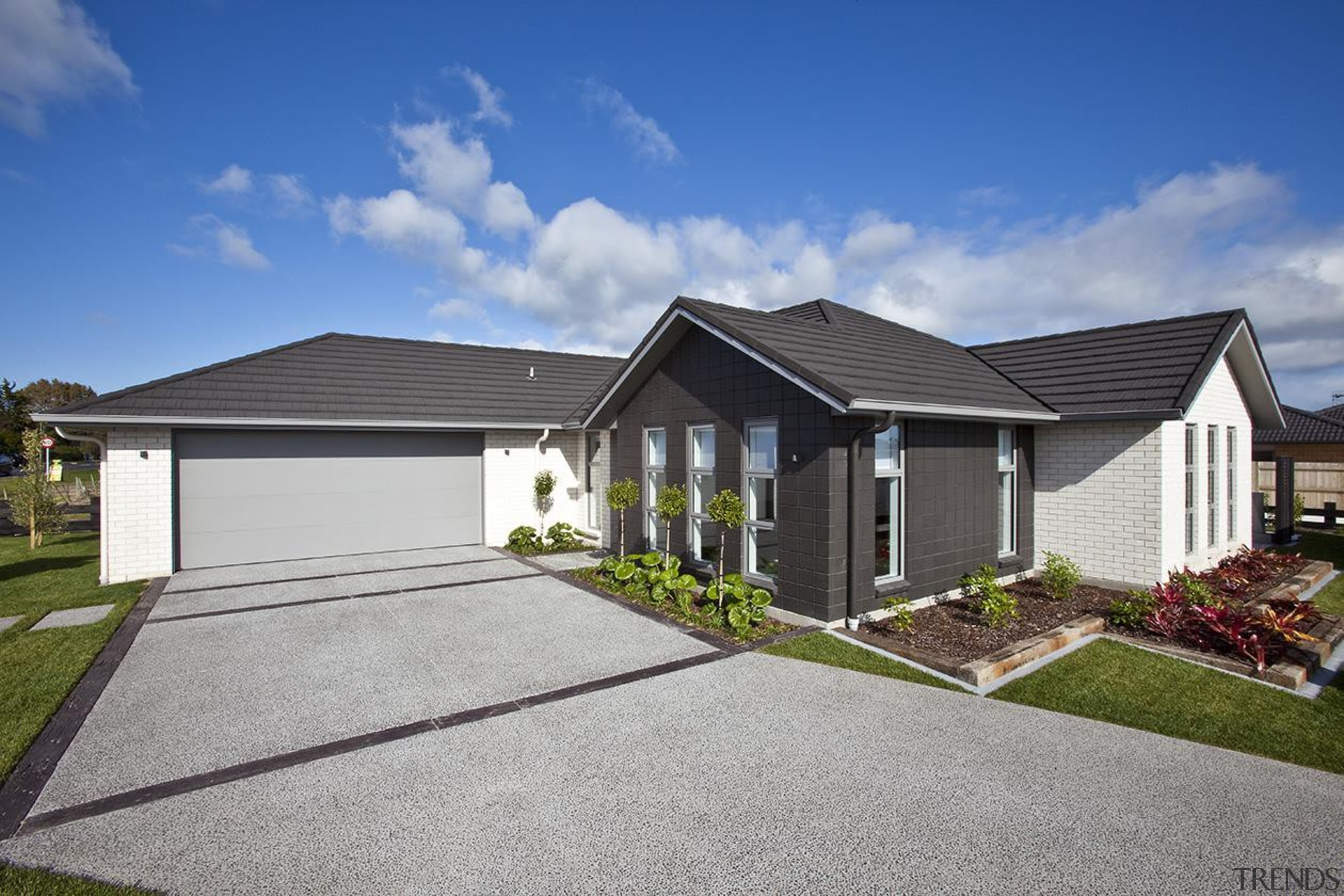 For more information, please visit www.gjgardner.co.nz building, cottage, elevation, estate, facade, home, house, property, real estate, residential area, roof, siding, suburb, yard, gray, blue