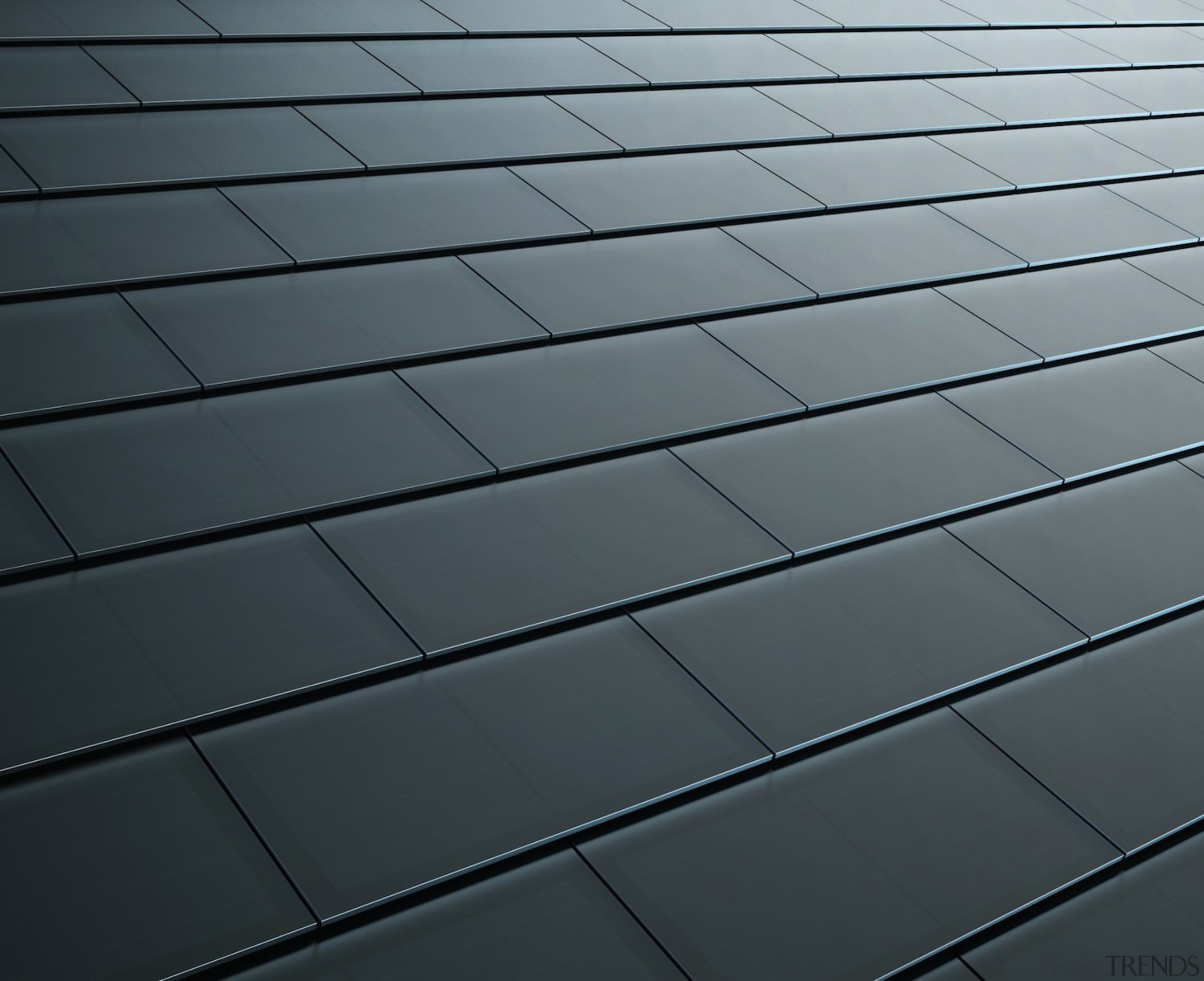 Tesla Solar Roof tiles - Tesla Solar Roof angle, daylighting, floor, light, line, material, road surface, sky, texture, wood, gray, black